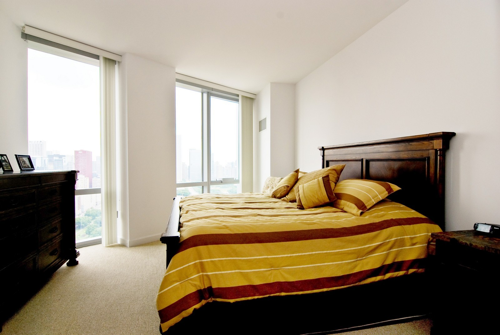 Real Estate Photography - 1211 S Prairie, 4001, Chicago, IL, 60605 - Master Bedroom