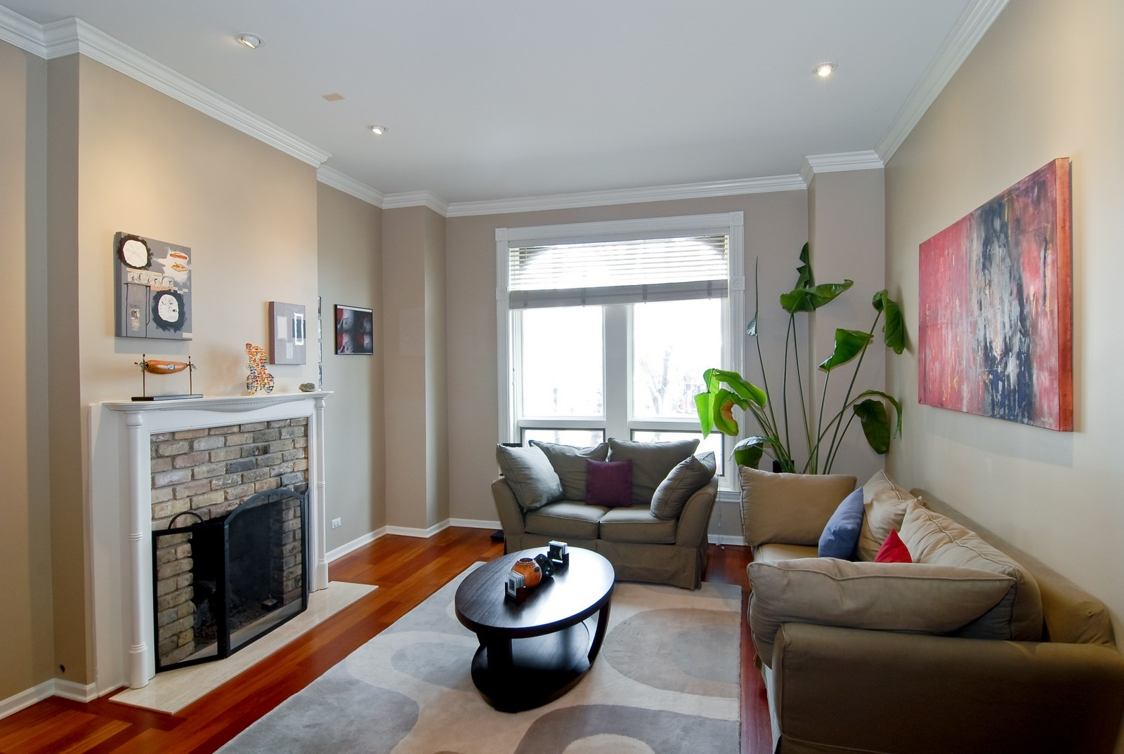 Real Estate Photography - 2646 N Seminary, Unit 1, Chicago, IL, 60614 - Living Room