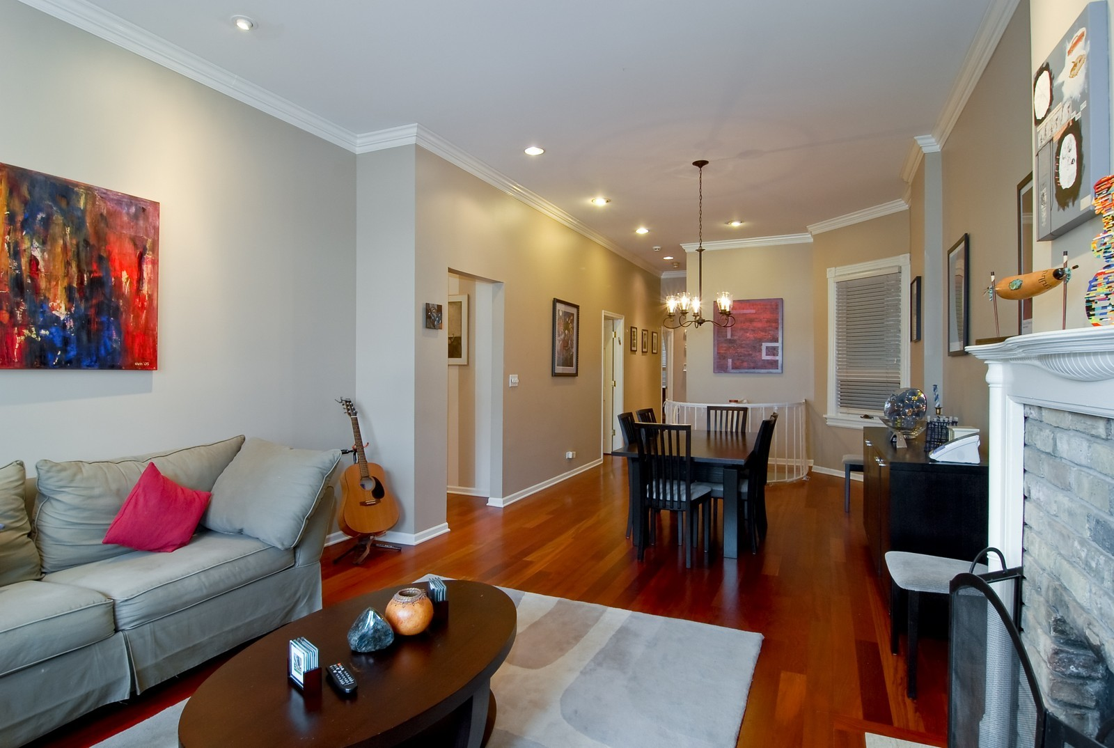 Real Estate Photography - 2646 N Seminary, Unit 1, Chicago, IL, 60614 - Living Room / Dining Room