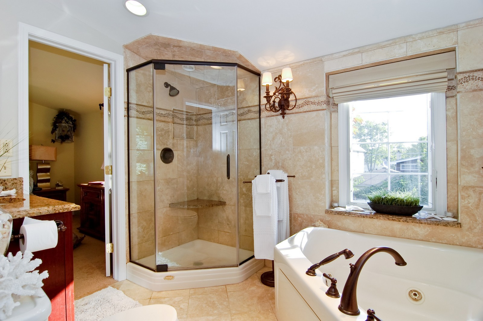 Real Estate Photography - 1025 S Ashland, LaGrange, IL, 60525 - Master Bathroom
