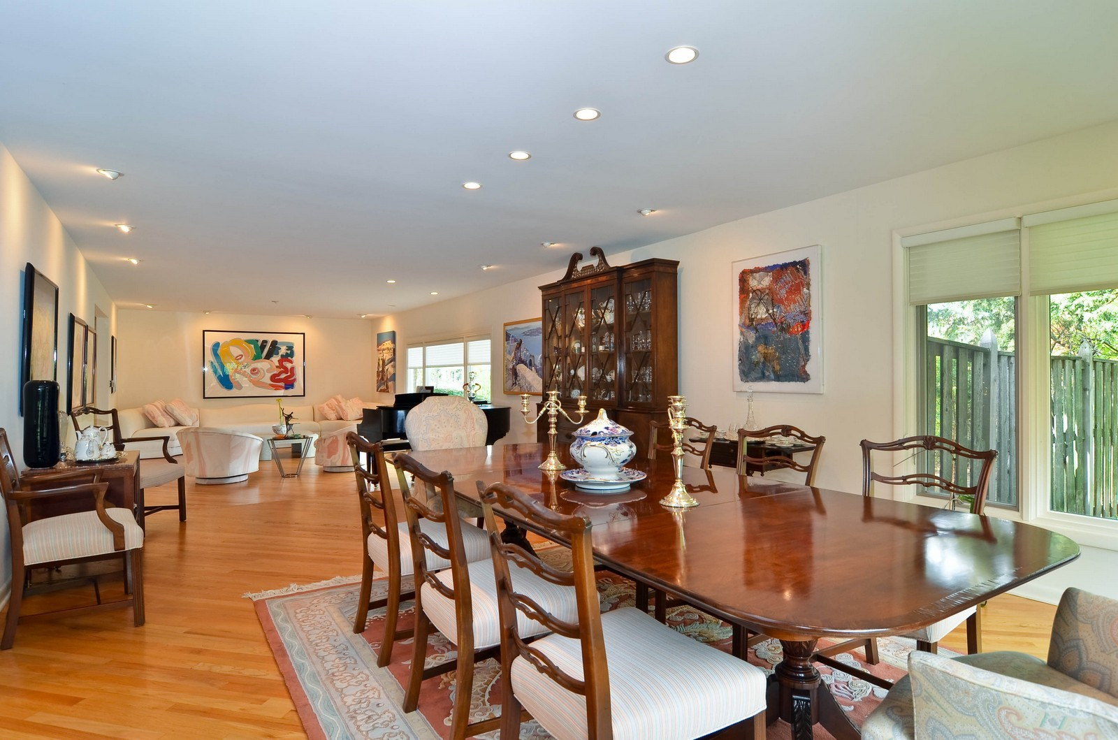 Real Estate Photography - 2265 Cedar, Northbrook, IL, 60062 - Living Room / Dining Room