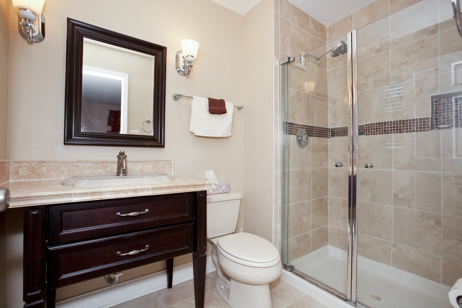 Real Estate Photography - 6511 Terrace, Downers Grove, IL, 60516 - Master Bathroom