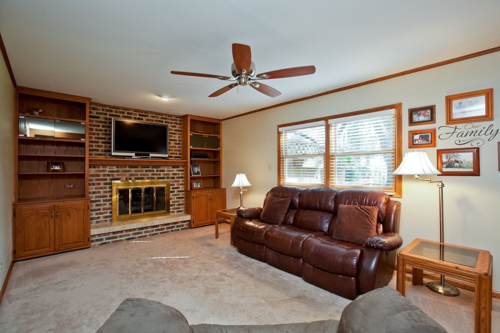 Real Estate Photography - 6511 Terrace, Downers Grove, IL, 60516 - Family Room