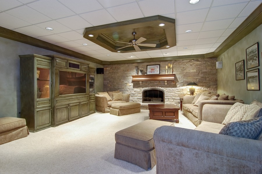 Real Estate Photography - 8S235 Murray Dr, Naperville, IL, 60540 - Media Room