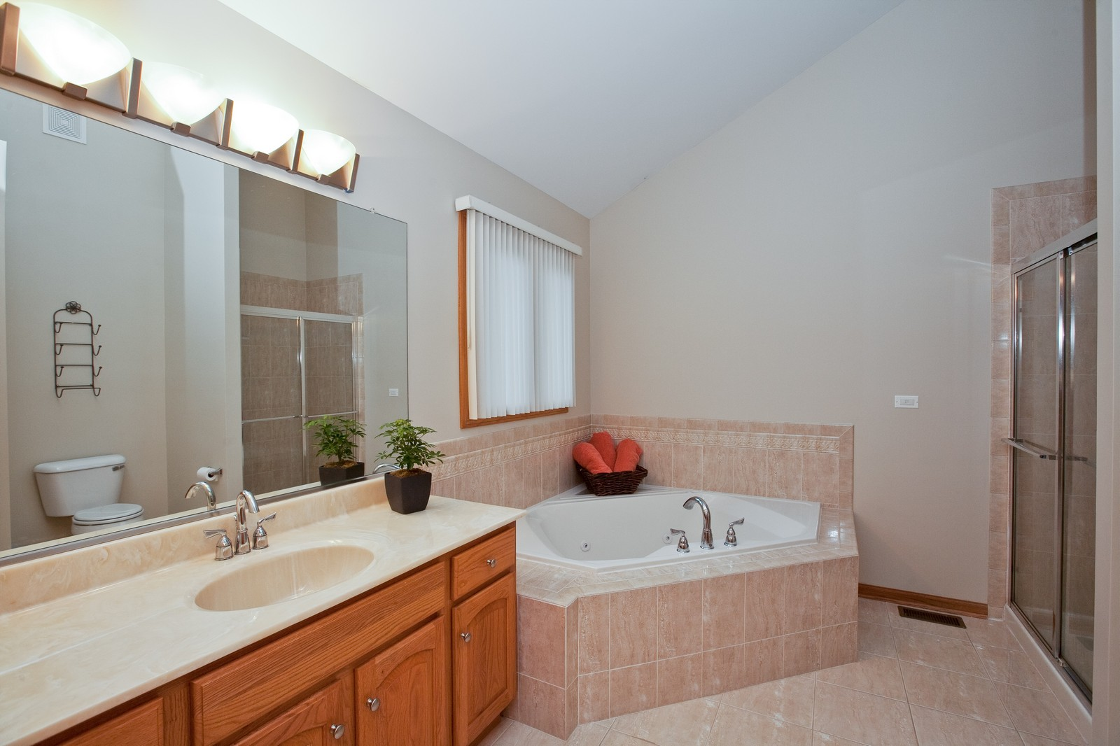 Real Estate Photography - 2 Abbey Court, Woodridge, IL, 60517 - Master Bathroom