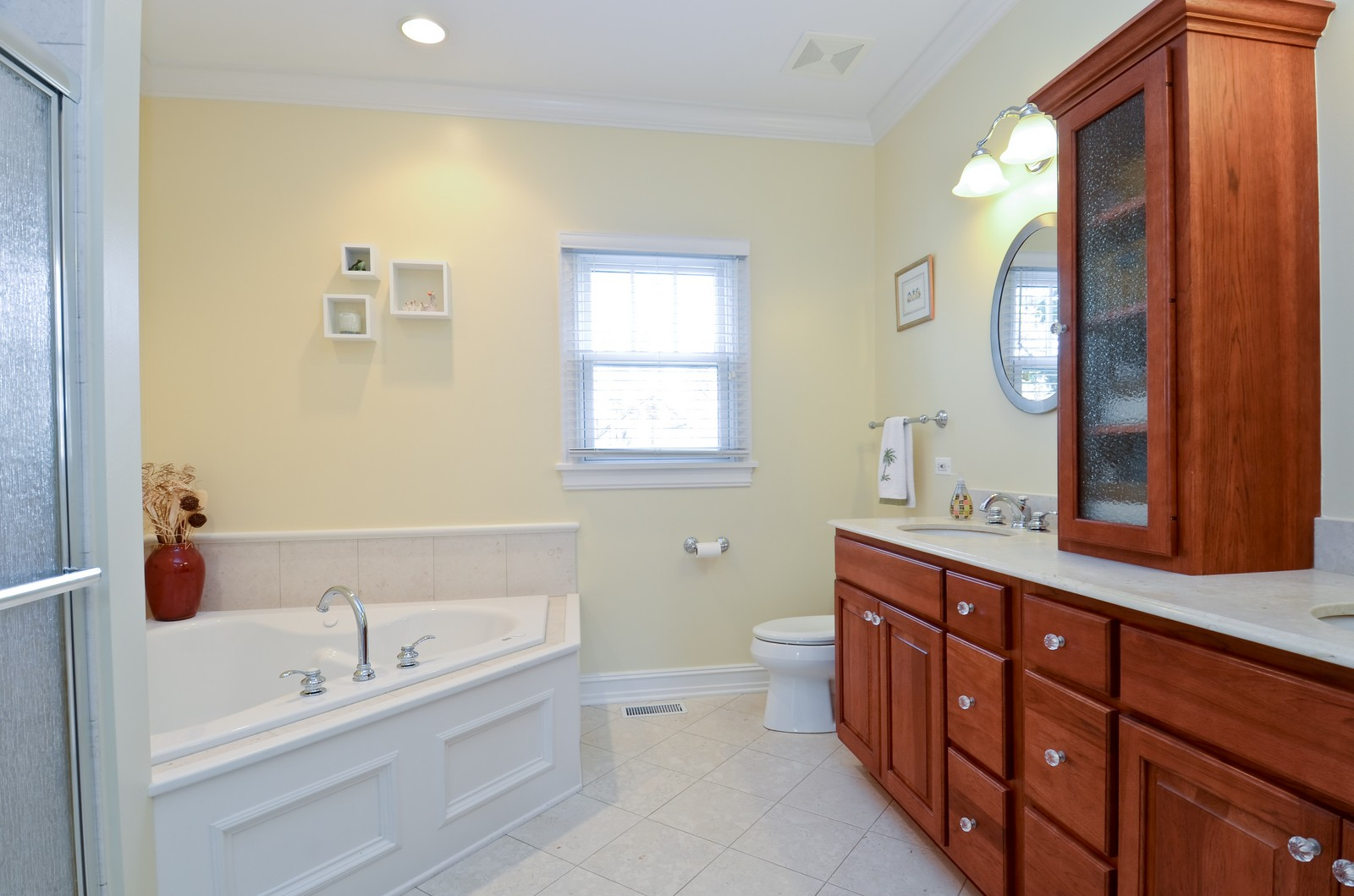 Real Estate Photography - 738 Western Ave., Glen Ellyn, IL, 60137 - Master Bathroom