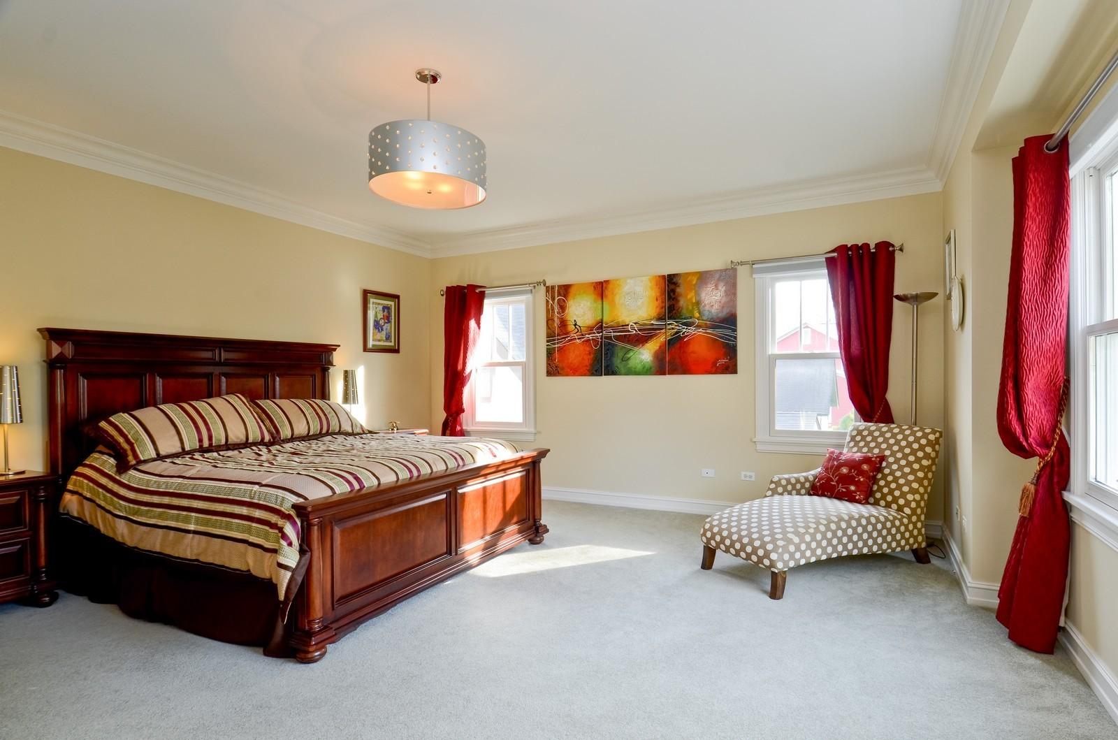 Real Estate Photography - 738 Western Ave., Glen Ellyn, IL, 60137 - Master Bedroom