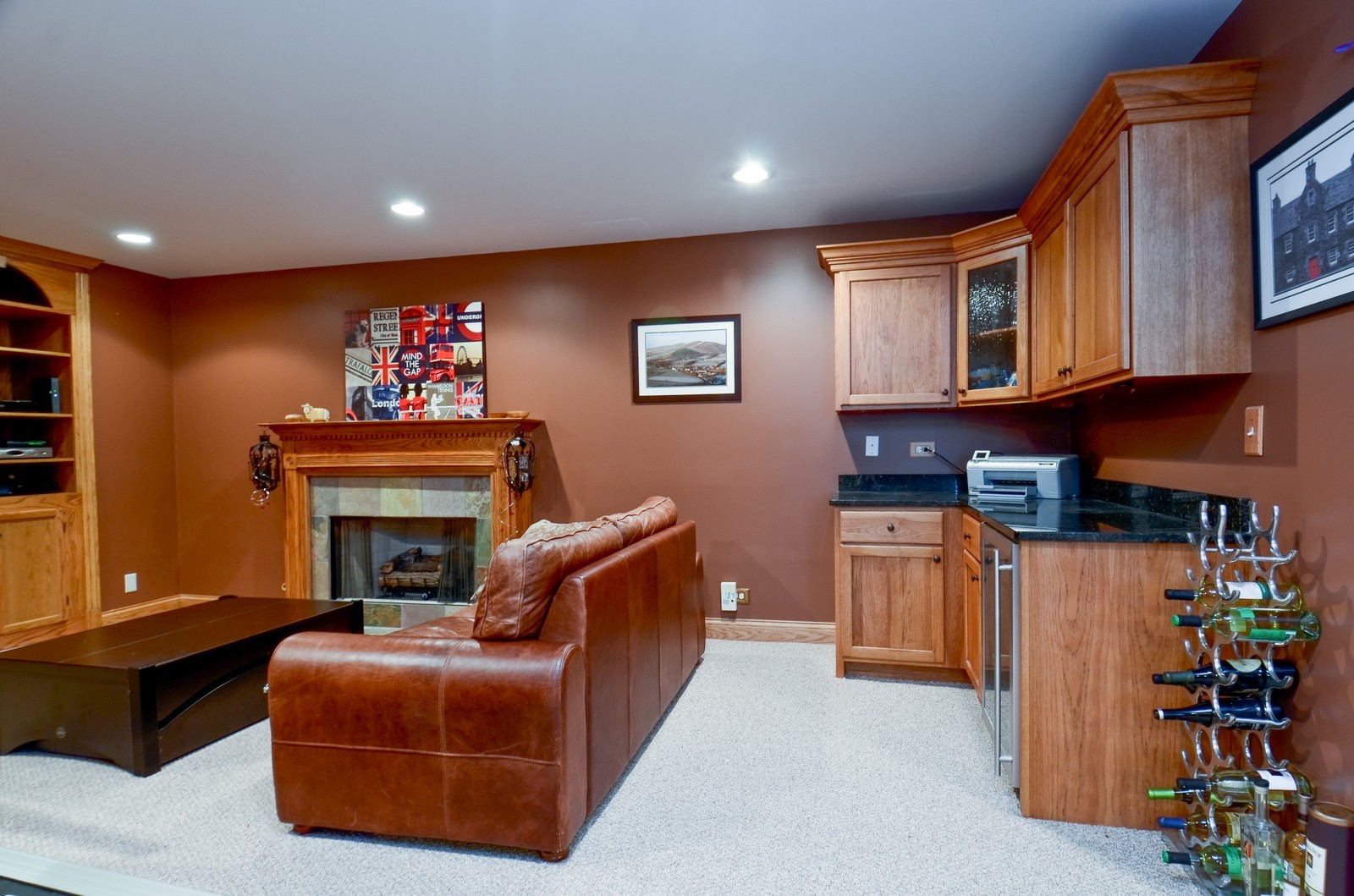 Real Estate Photography - 738 Western Ave., Glen Ellyn, IL, 60137 - Entertainment Room