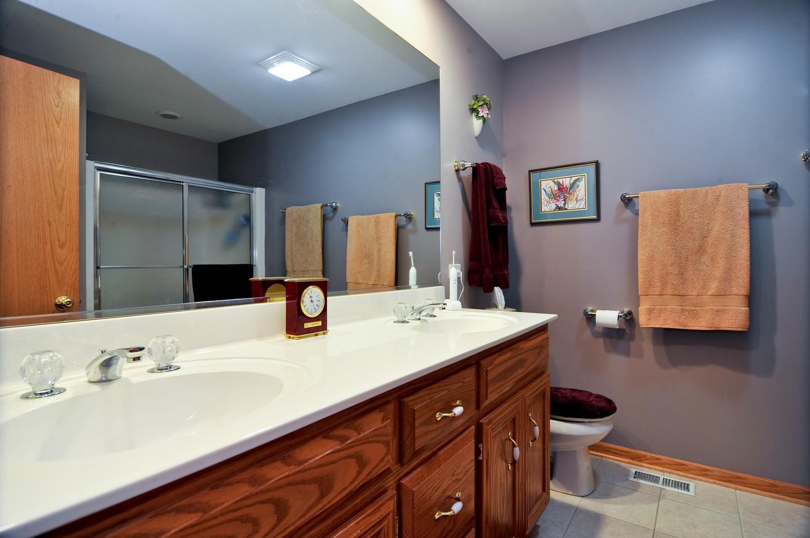 Real Estate Photography - 1153 Linden Circle, Beecher, IL, 60401 - Master Bathroom