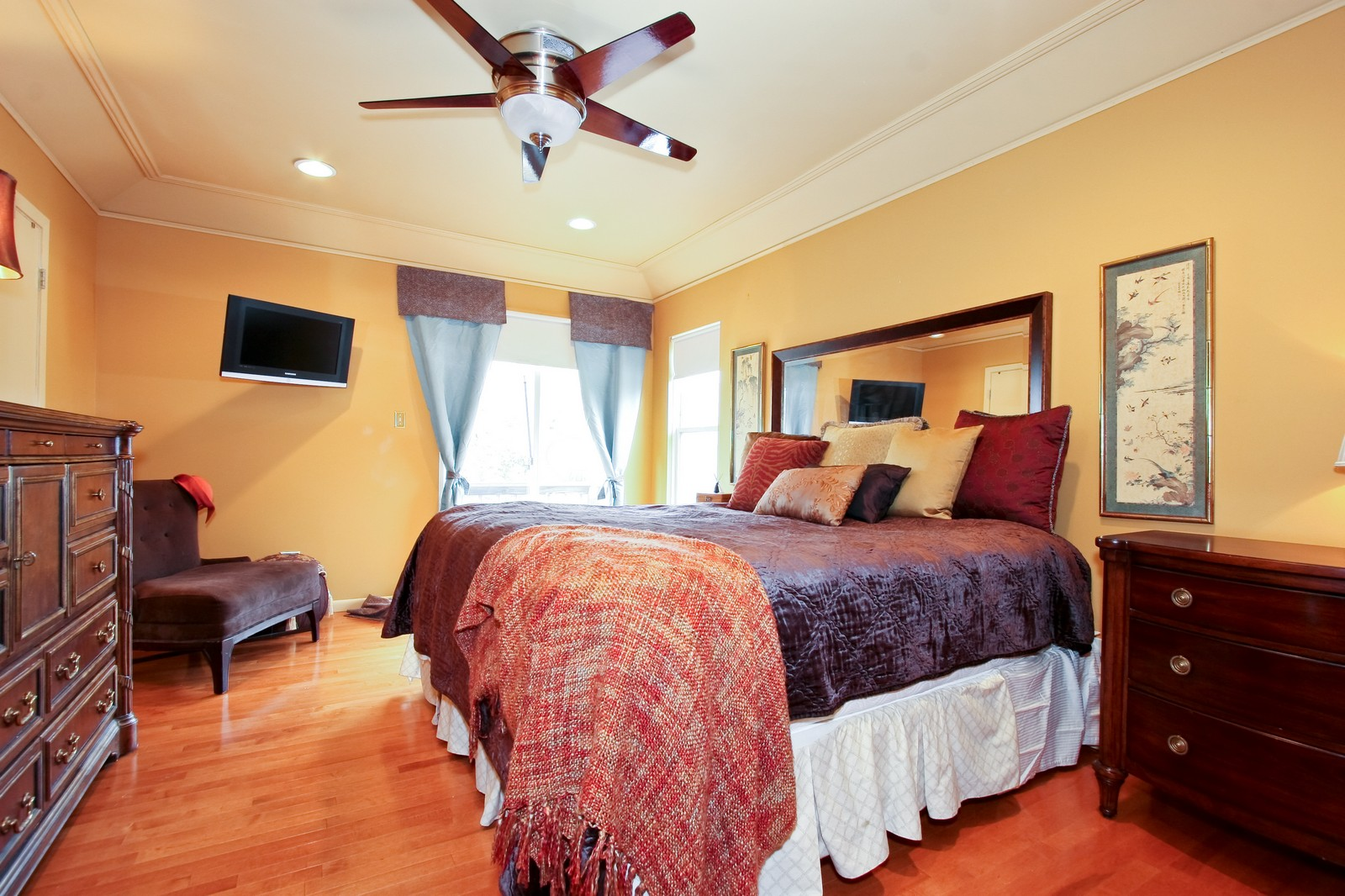 Real Estate Photography - 2637 Grove, Blue Island, IL, 60406 - Master Bedroom