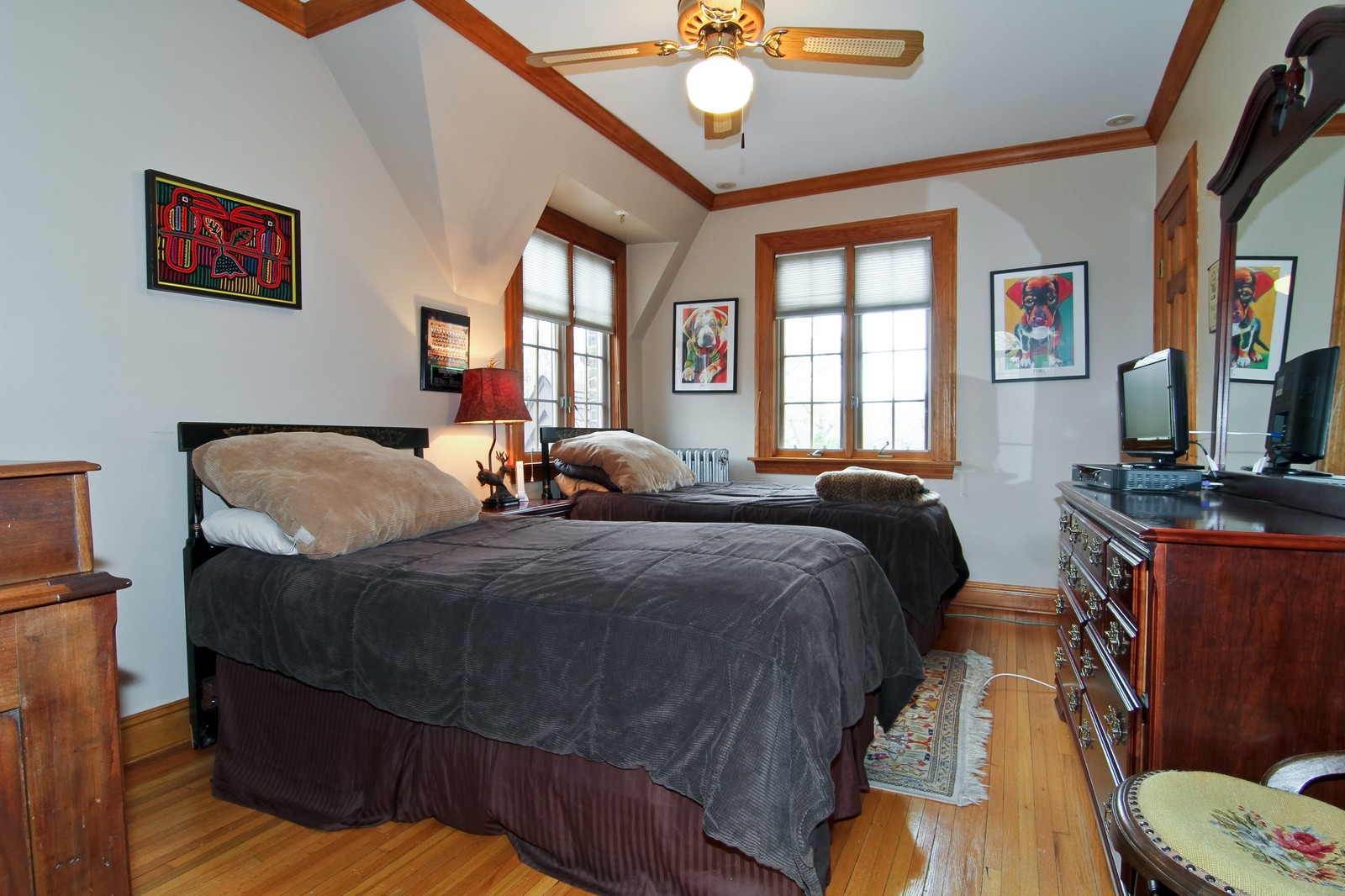 Real Estate Photography - 933 N Main, Glen Ellyn, IL, 60137 - 2nd Bedroom