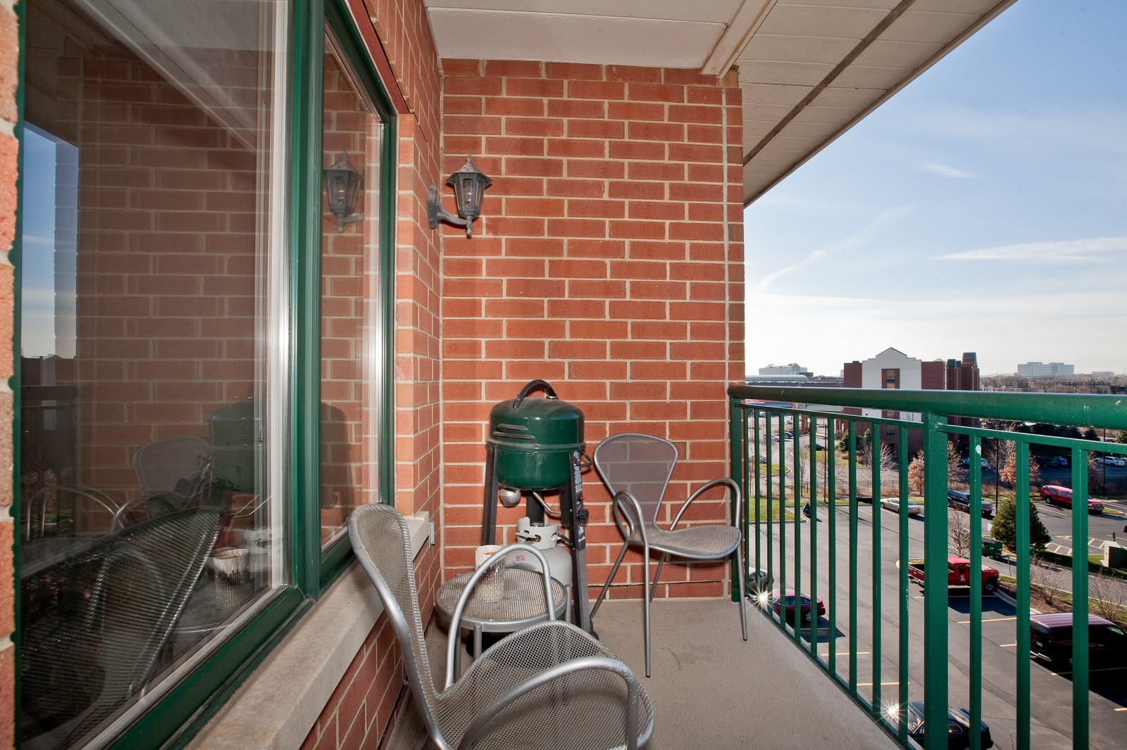 Real Estate Photography - 865 E 22nd St, Unit 510, Lombard, IL, 60148 - Balcony
