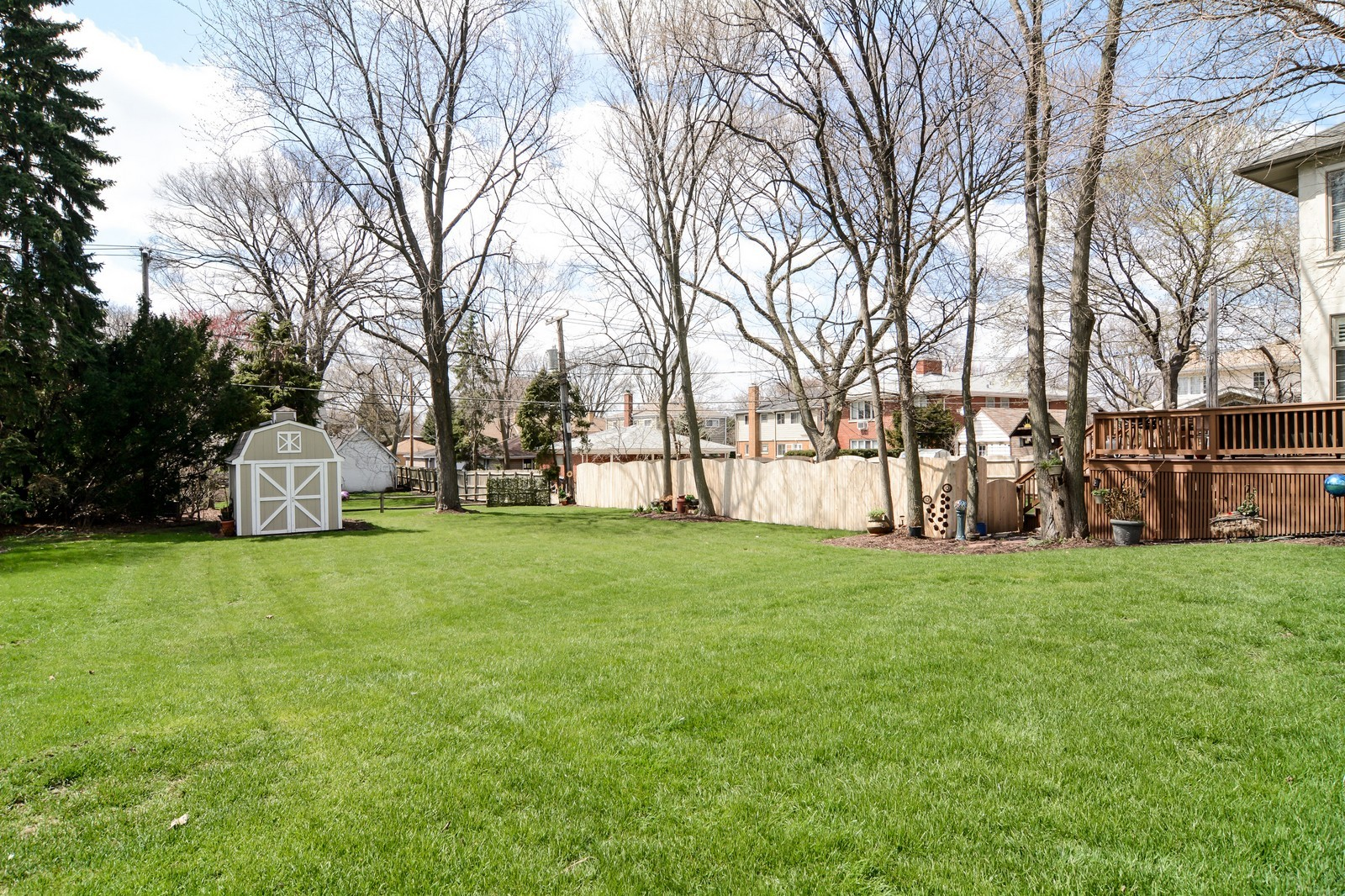 Real Estate Photography - 4418 Harvey, Western Springs, IL, 60558 - Back Yard