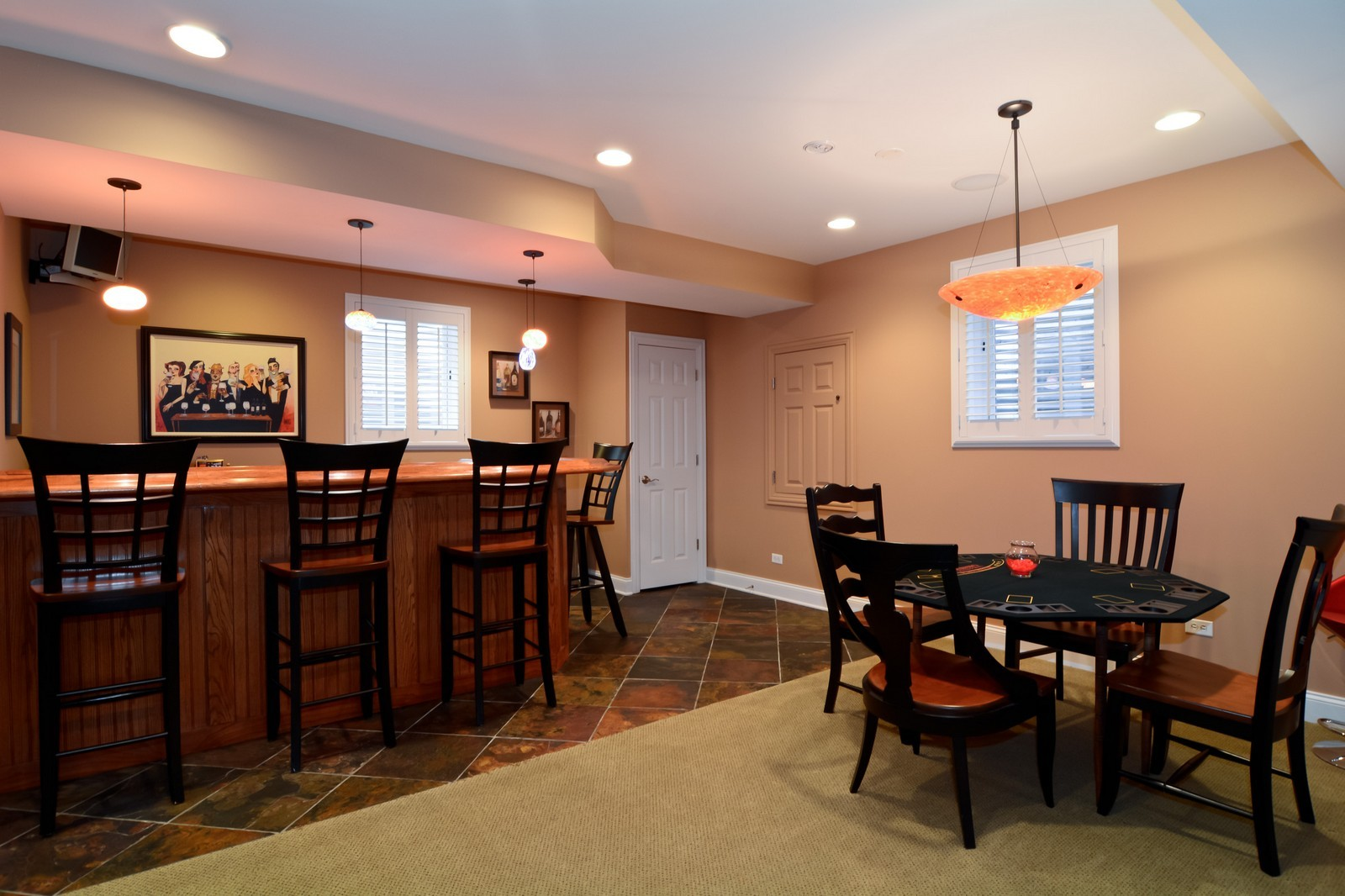 Real Estate Photography - 4418 Harvey, Western Springs, IL, 60558 - Bar