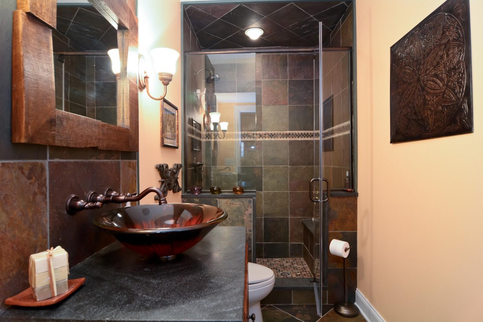 Real Estate Photography - 4418 Harvey, Western Springs, IL, 60558 - Bathroom
