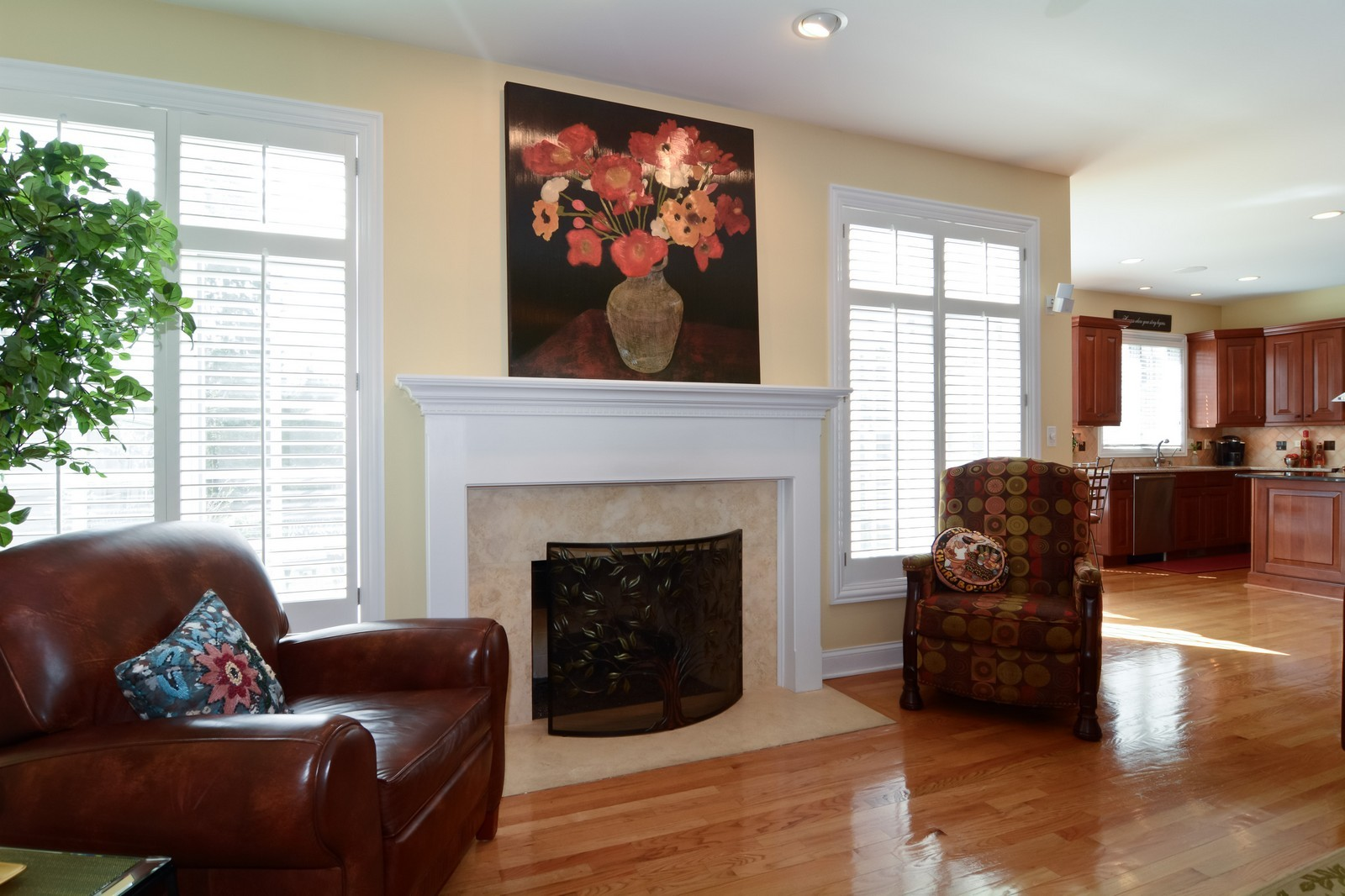 Real Estate Photography - 4418 Harvey, Western Springs, IL, 60558 - Family Room / Kitchen