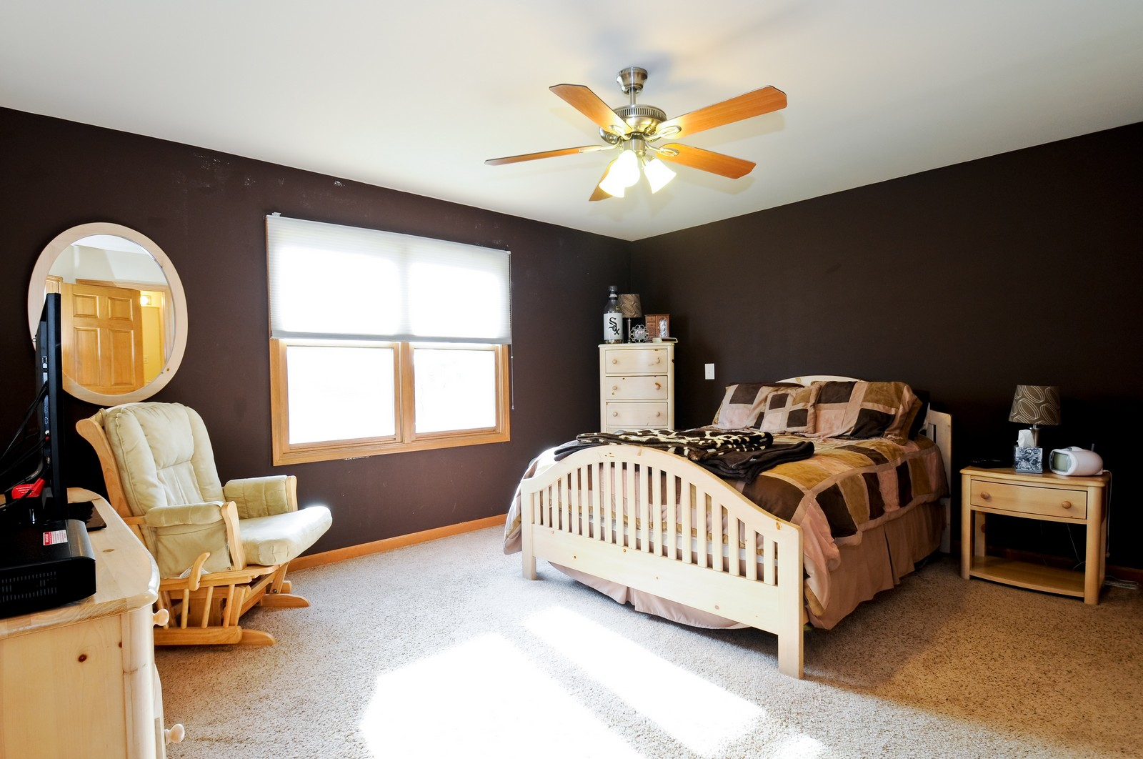 Real Estate Photography - 28 W. 31st Street, Steger, IL, 60475 - Master Bedroom