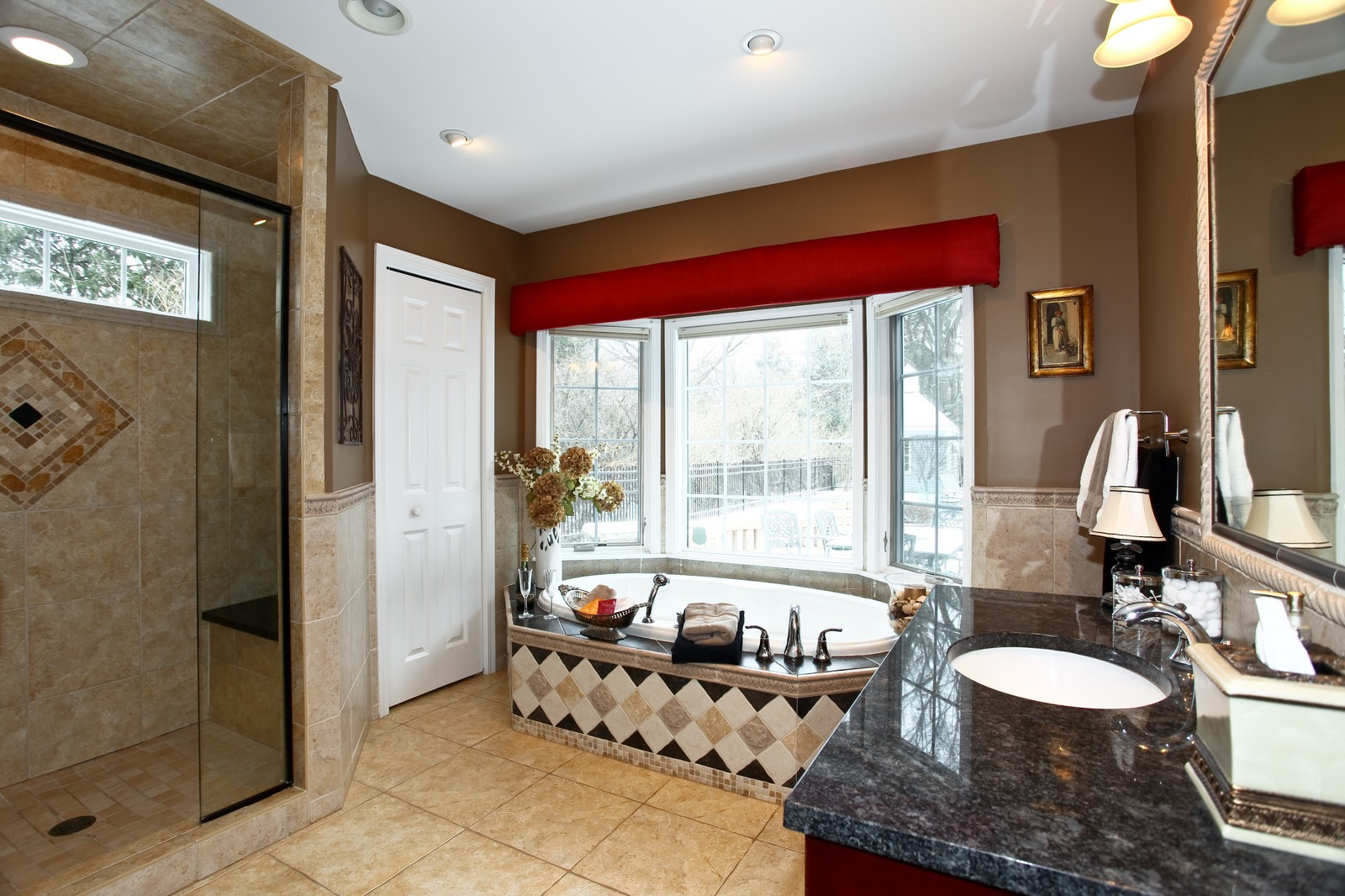 Real Estate Photography - 700 Peck Road, Geneva, IL, 60134 - Master Bathroom