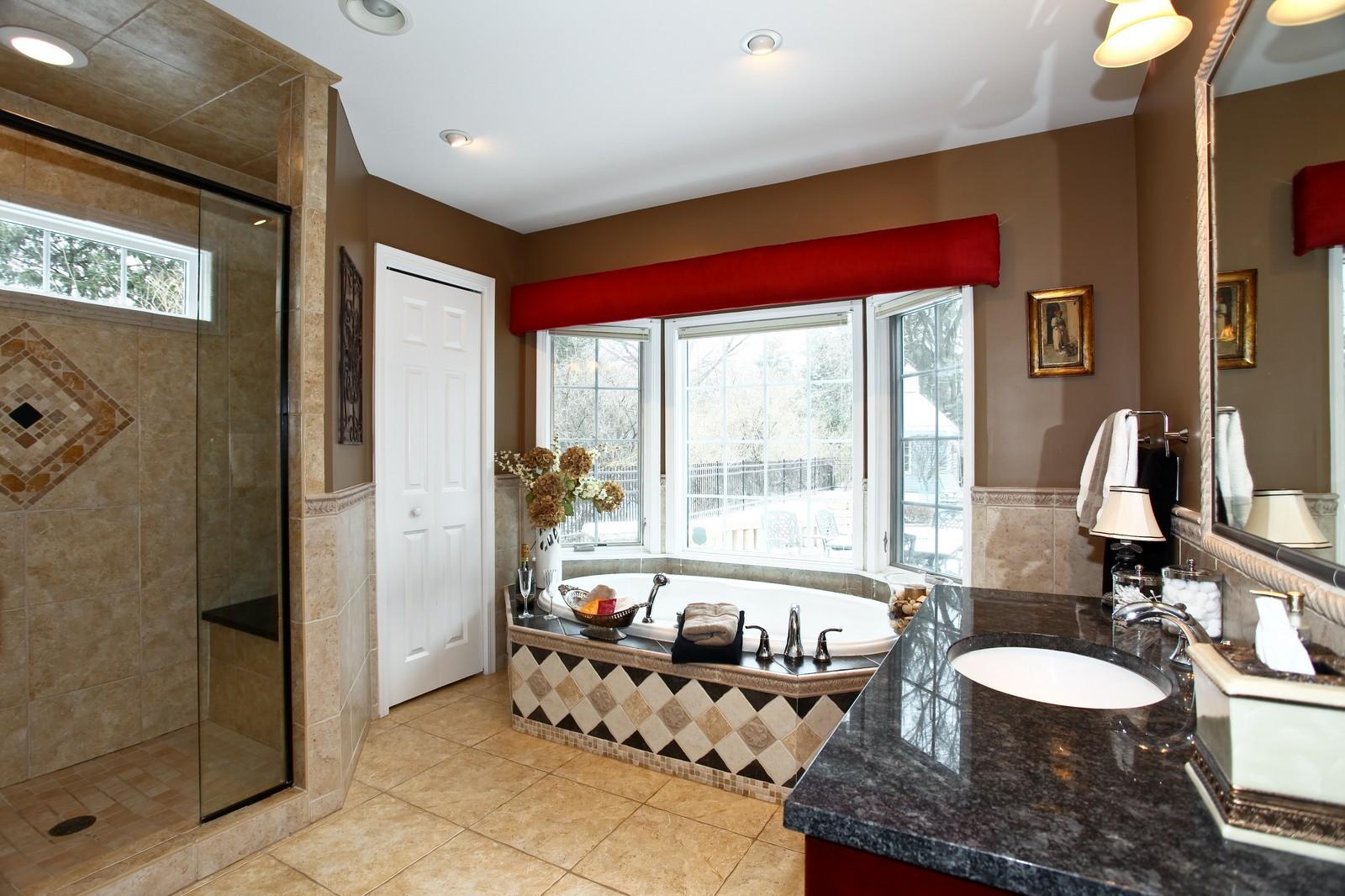 Real Estate Photography - 700 Peck Road, Geneva, IL, 60134 - Master Bathroom