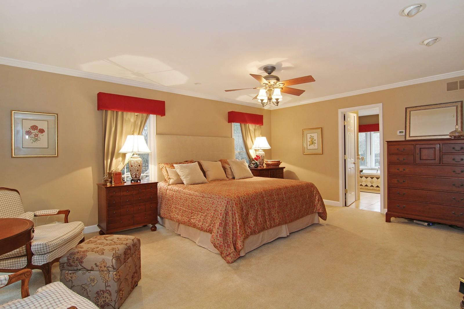 Real Estate Photography - 700 Peck Road, Geneva, IL, 60134 - Master Bedroom