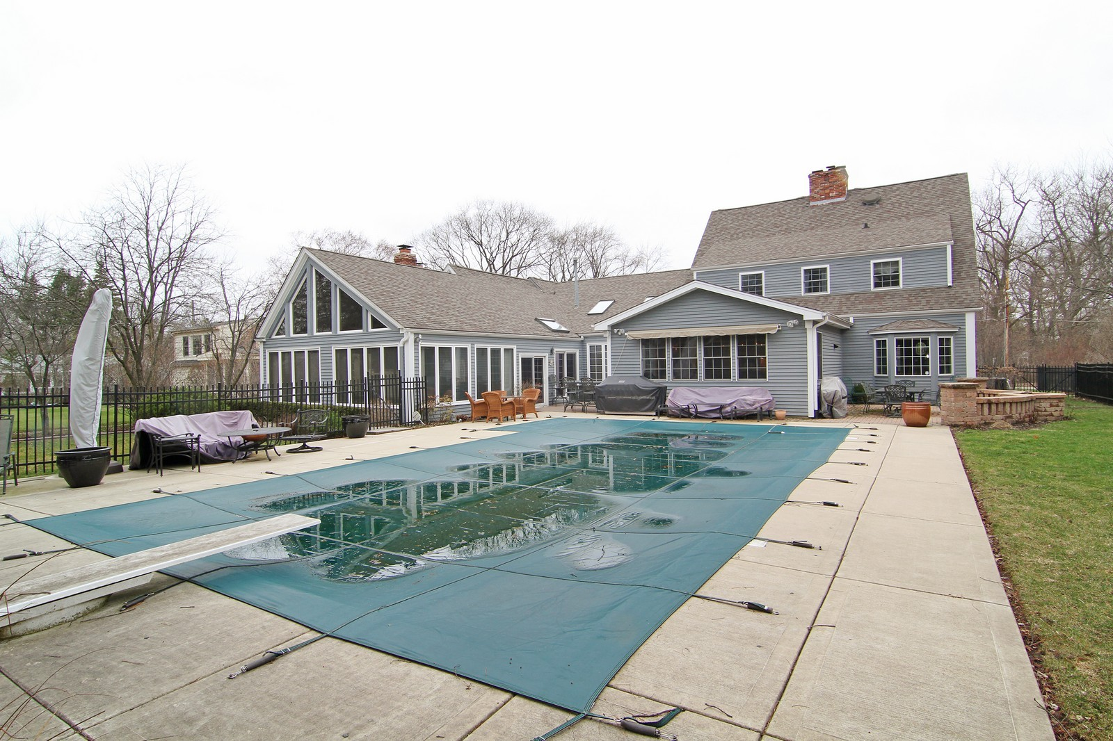 Real Estate Photography - 700 Peck Road, Geneva, IL, 60134 - Rear View