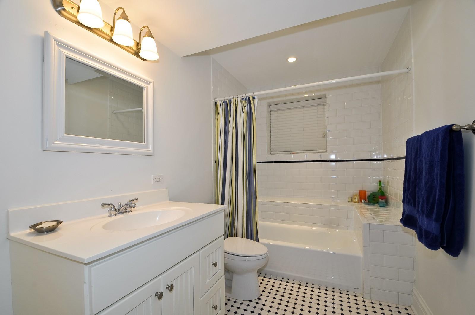 Real Estate Photography - 3734 n. richmond, chicago, IL, 60618 - 3rd Bathroom