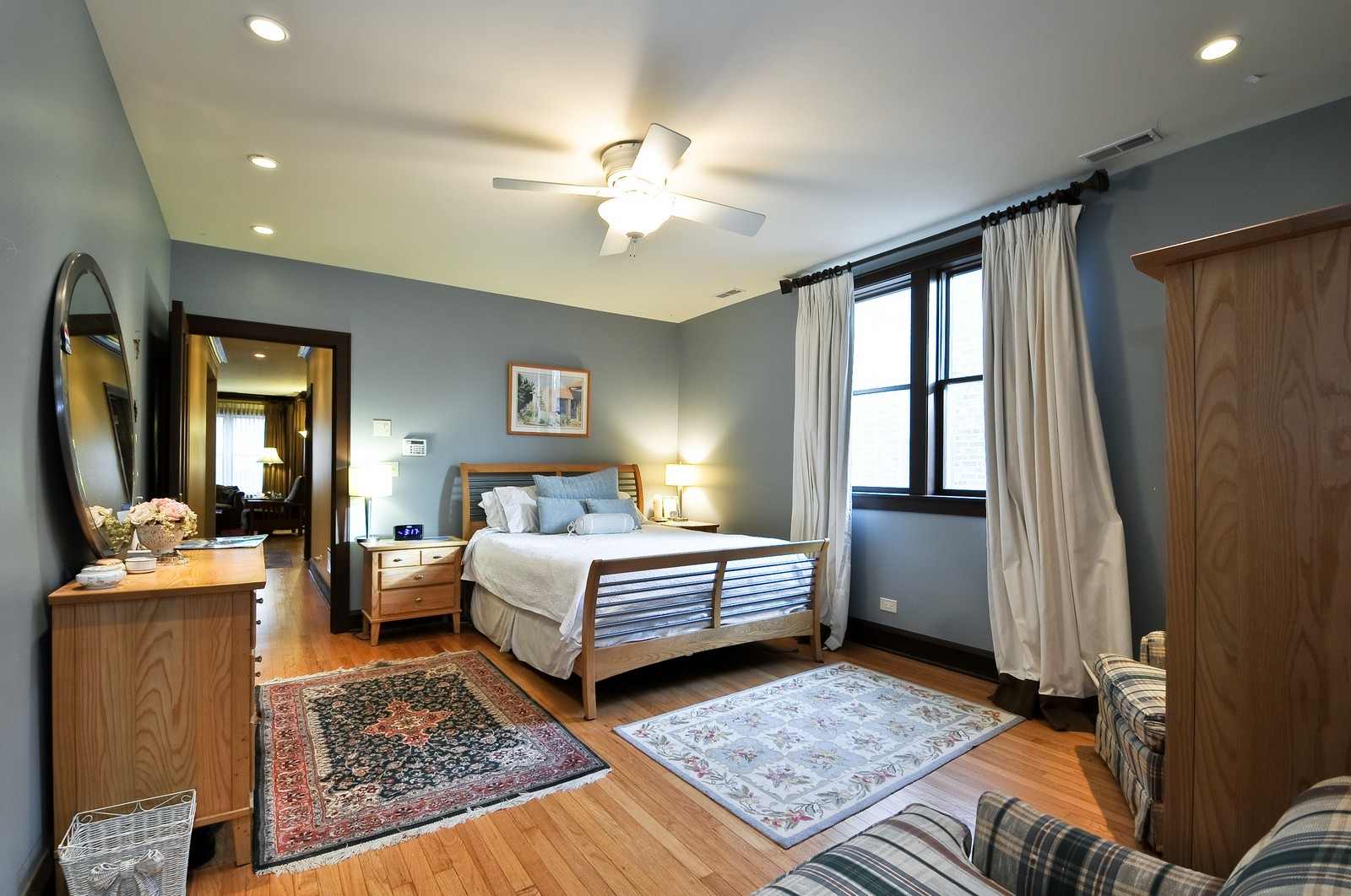 Real Estate Photography - 3734 n. richmond, chicago, IL, 60618 - Master Bedroom