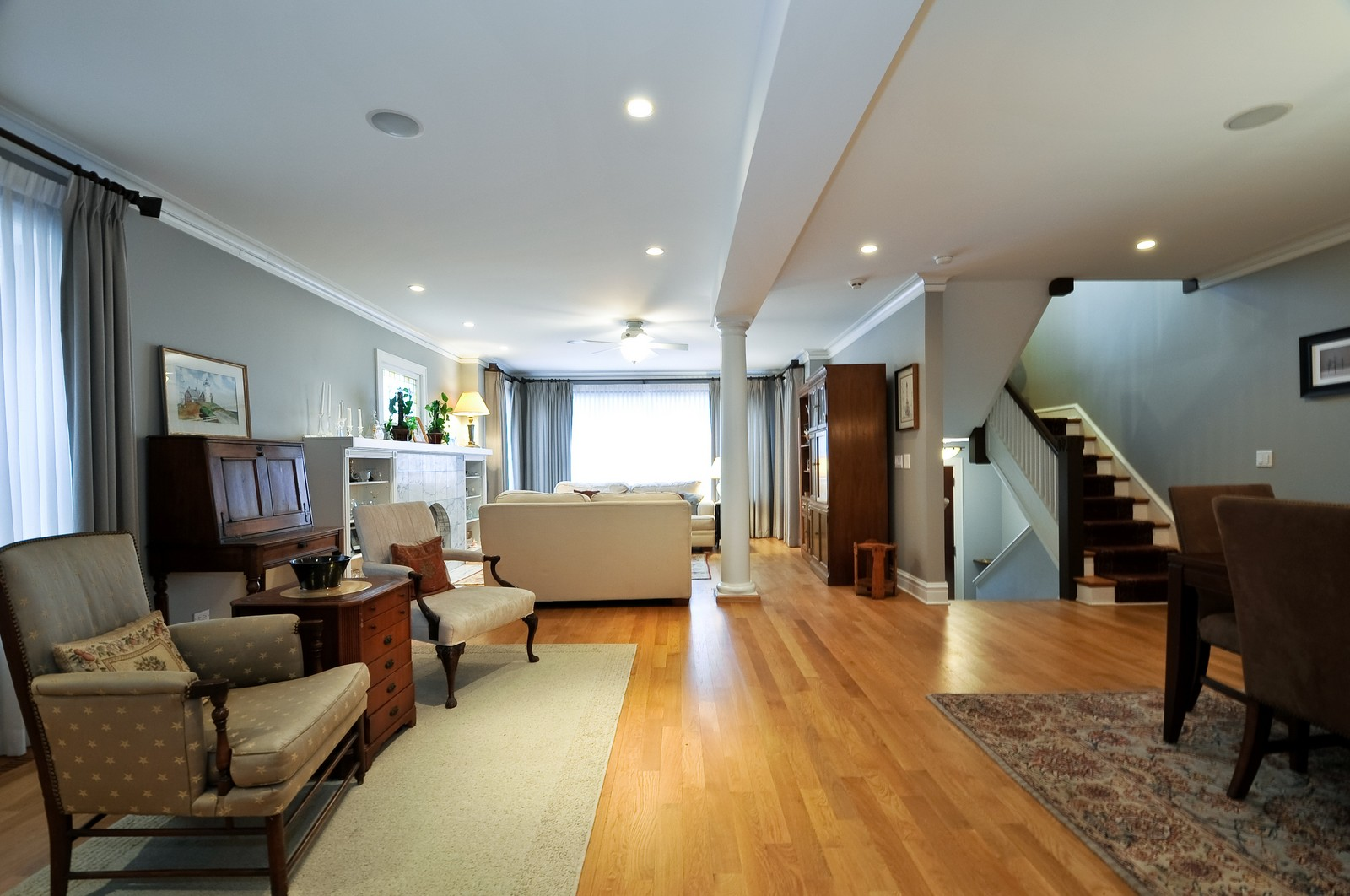 Real Estate Photography - 3734 n. richmond, chicago, IL, 60618 - Living Room / Dining Room