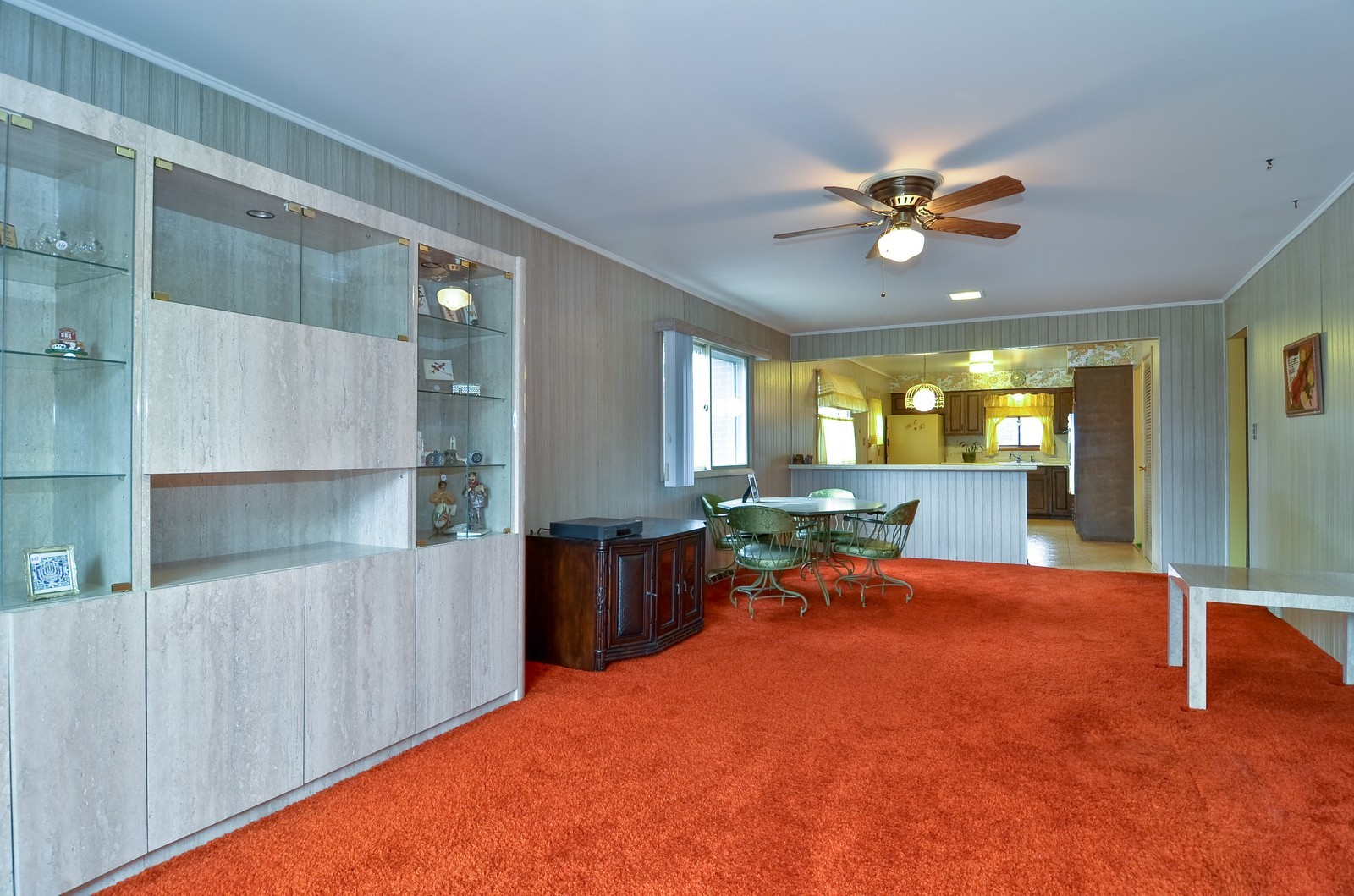 Real Estate Photography - 9045 Parkside, Morton Grove, IL, 60053 - Family Room / Kitchen