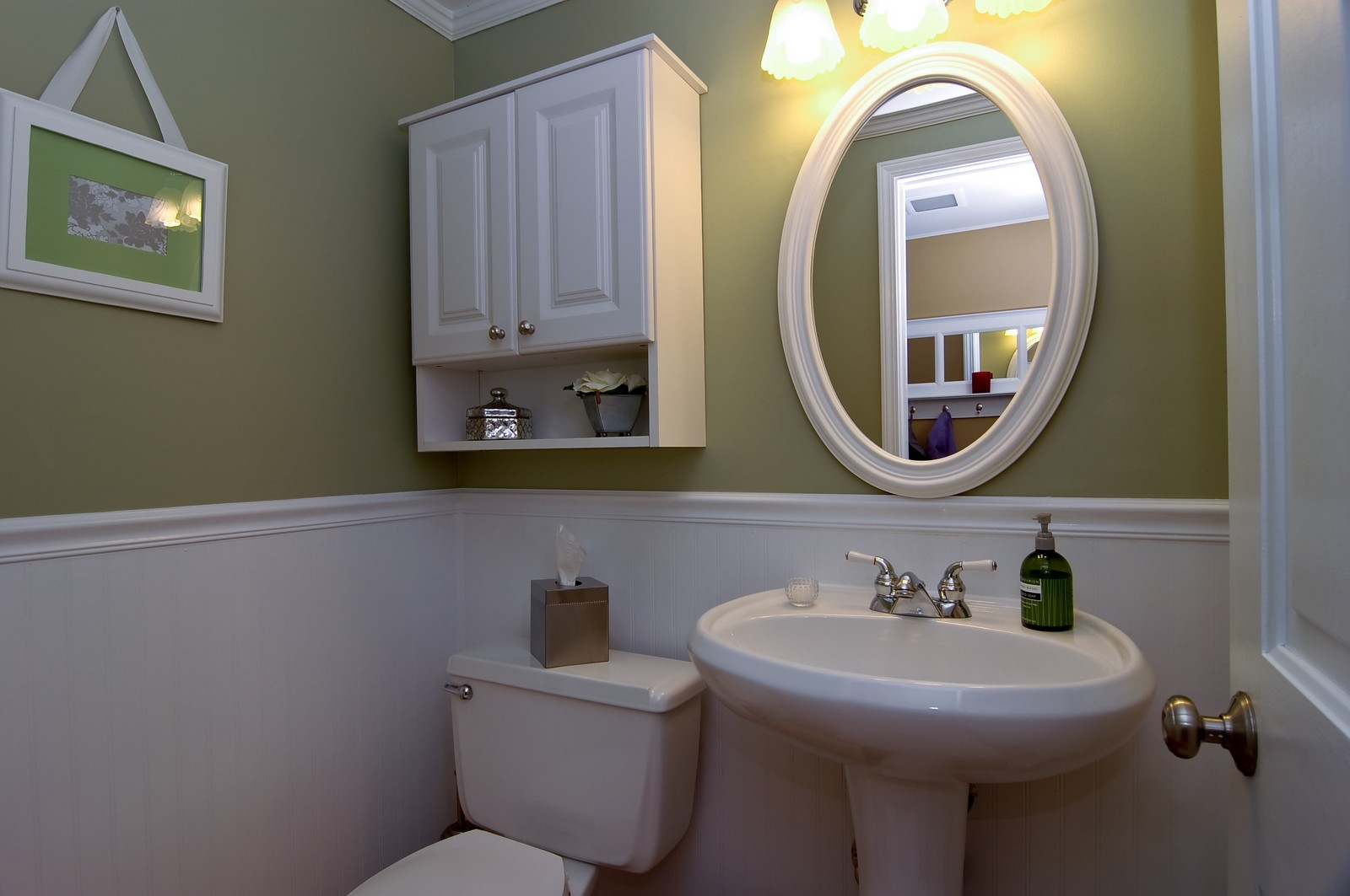 Real Estate Photography - 966 N Topanga, Palatine, IL, 60074 - Half Bath