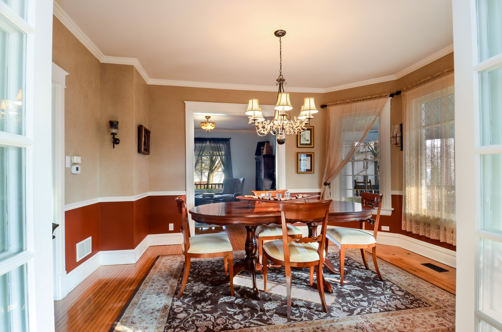 Real Estate Photography - 406 S Grant St, Hinsdale, IL, 60521 - Living Room / Dining Room