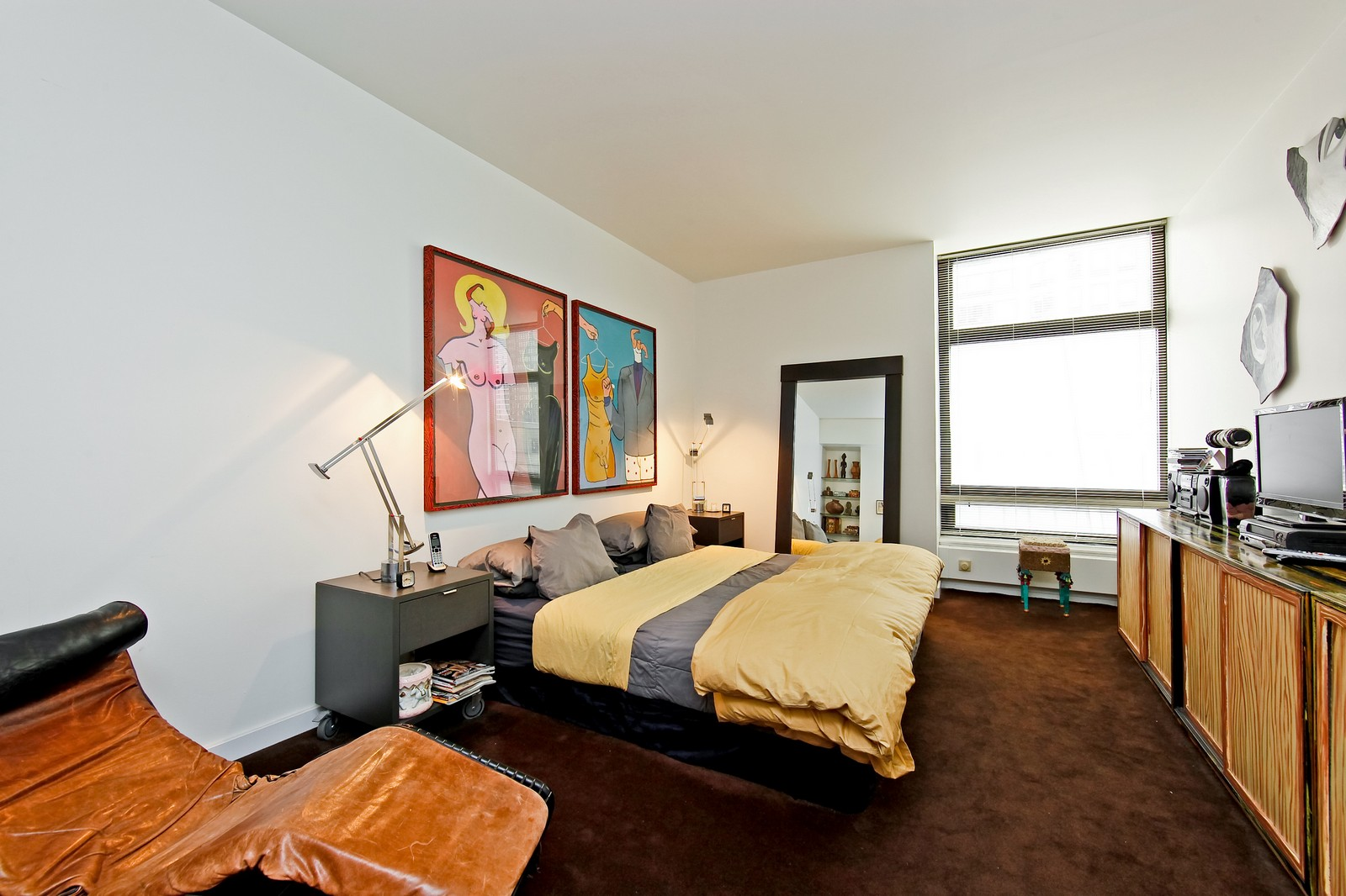Real Estate Photography - 680 N Lake Shore Dr, Unit 811, Chicago, IL, 60610 - Master Bedroom