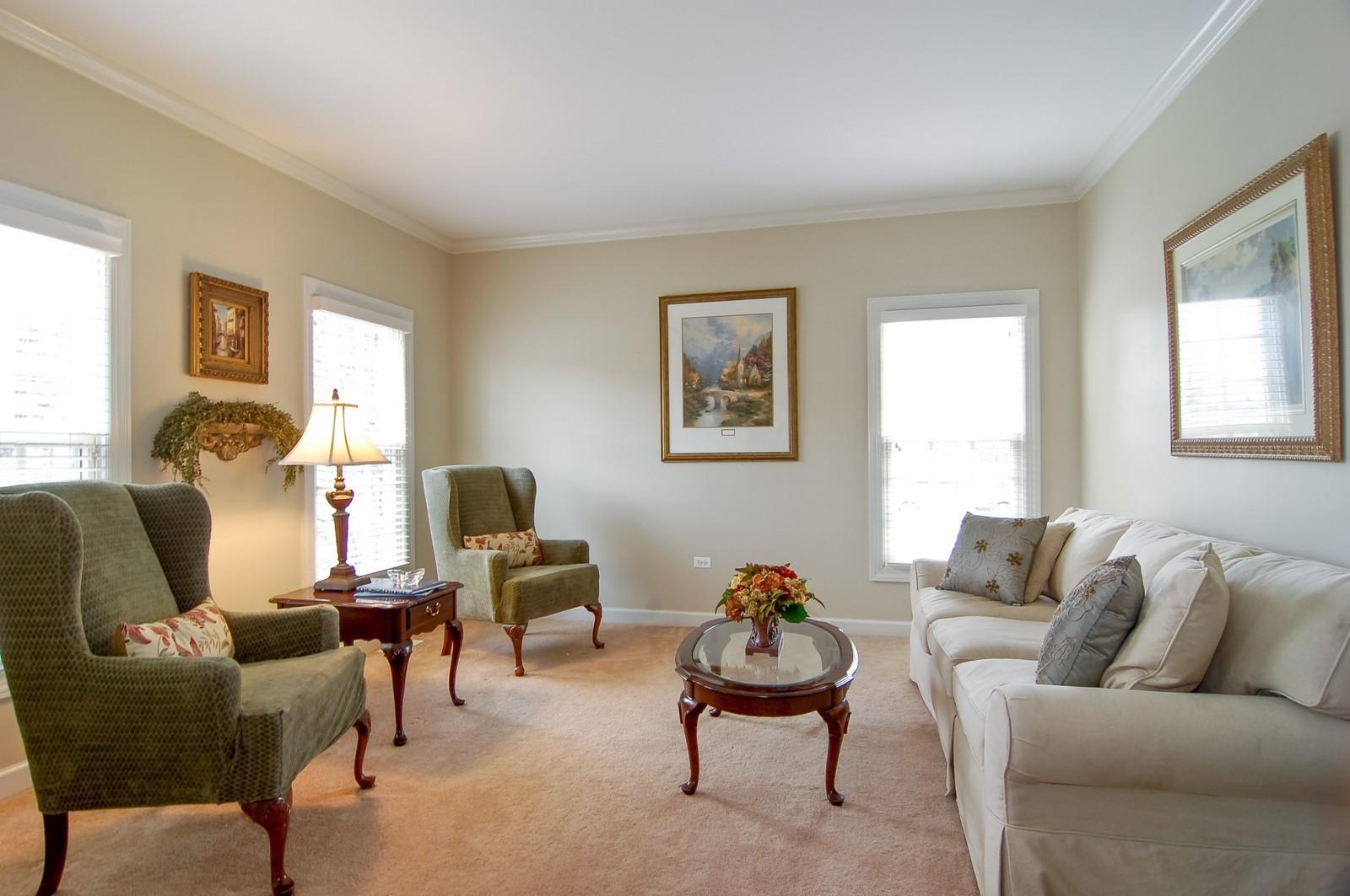 Real Estate Photography - 203 E. Lincoln, Wheaton, IL, 60187 - Living Room