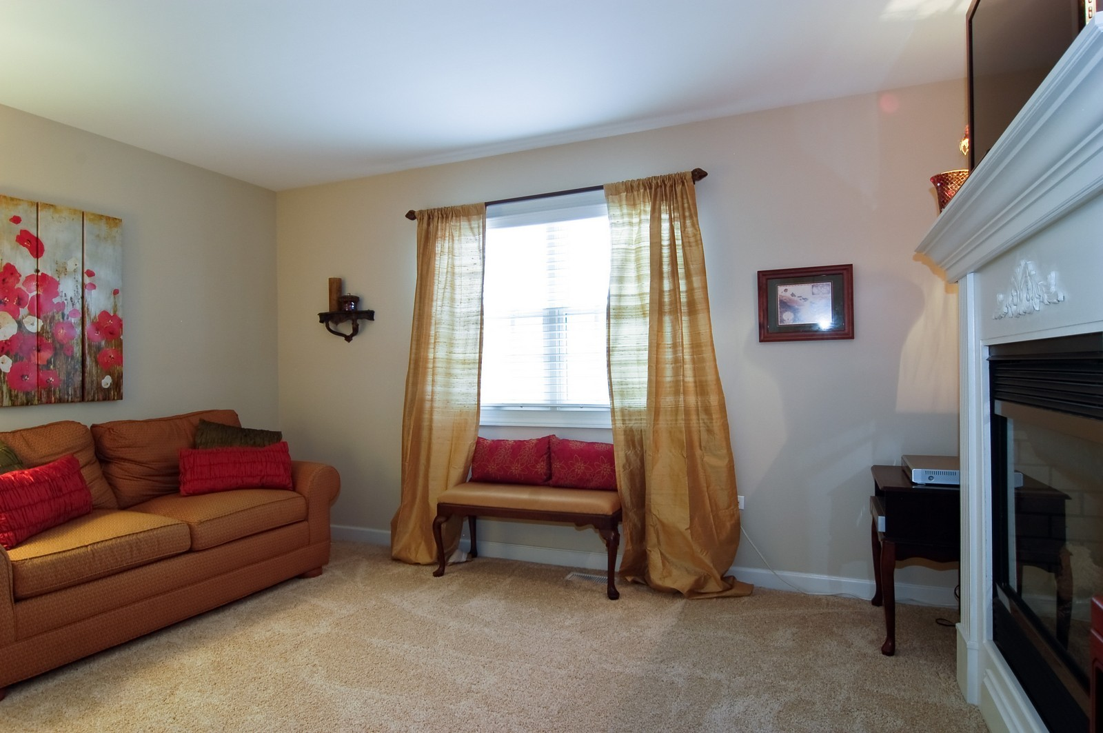 Real Estate Photography - 203 E. Lincoln, Wheaton, IL, 60187 - Master Sitting Room w/ See-Through Fireplace