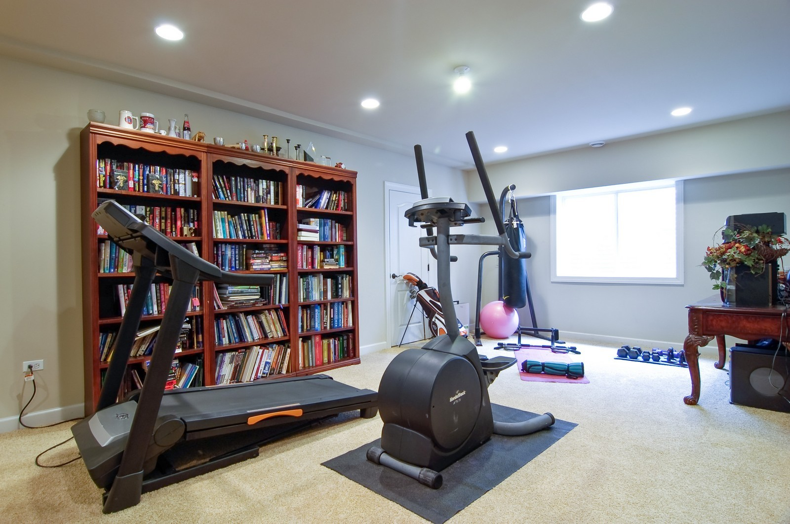 Real Estate Photography - 203 E. Lincoln, Wheaton, IL, 60187 - Exercise Room or Entertainment Room in Basement
