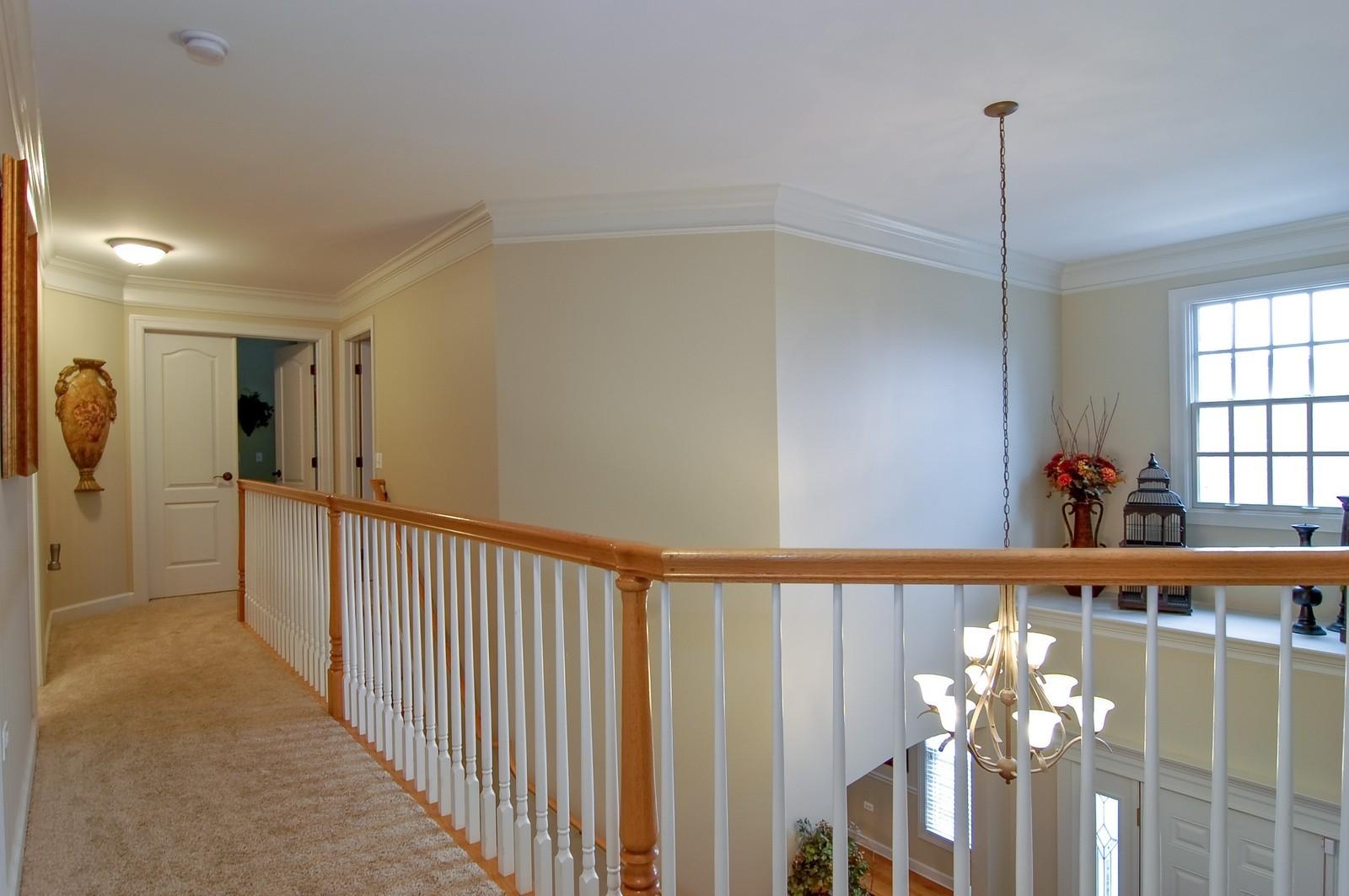 Real Estate Photography - 203 E. Lincoln, Wheaton, IL, 60187 - Second Floor Hallway