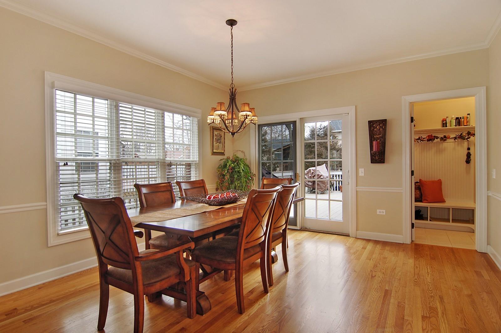 Real Estate Photography - 203 E. Lincoln, Wheaton, IL, 60187 - Kitchen Eating Area