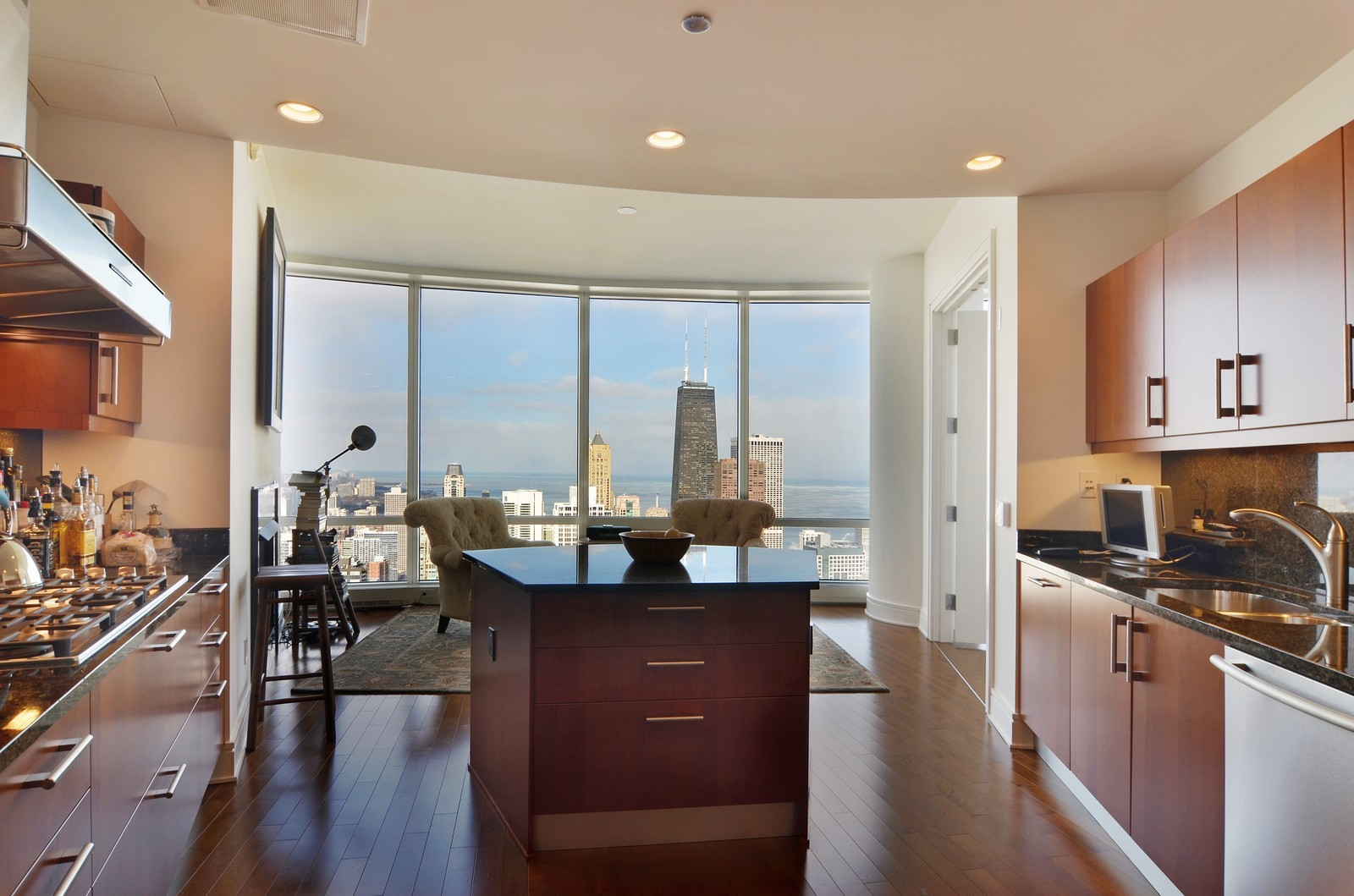 Real Estate Photography - 401 N Wabash, Unit 52a, Chicago, IL, 60611 - Kitchen / Breakfast Room