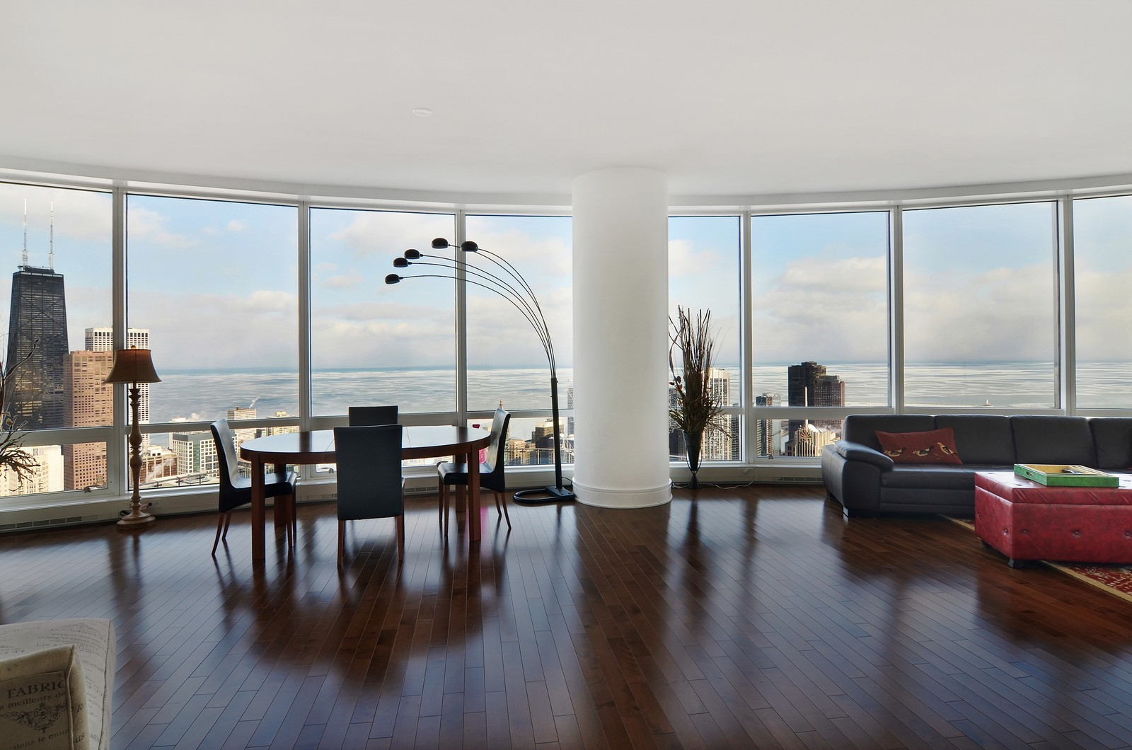 Real Estate Photography - 401 N Wabash, Unit 52a, Chicago, IL, 60611 - Living Room / Dining Room