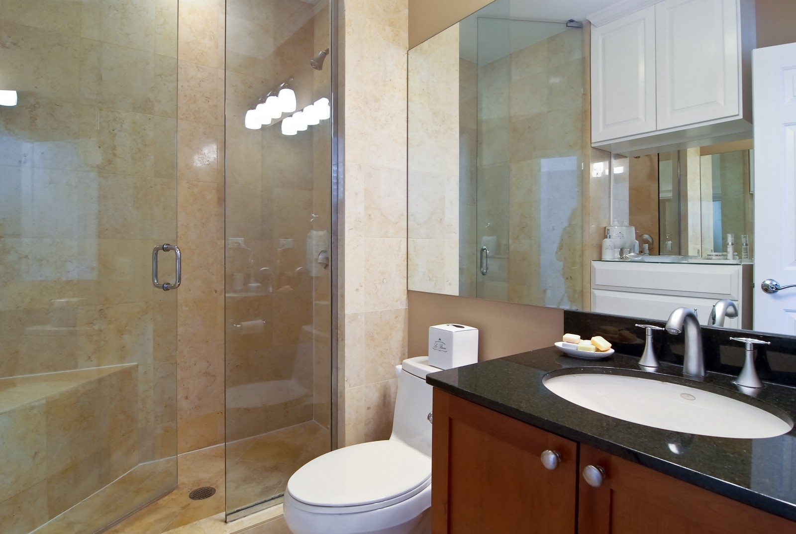 Real Estate Photography - 1815 N Shefield, Unit A, Chicago, IL, 60614 - Master Bathroom