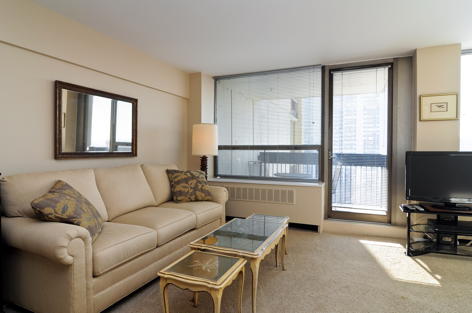 Real Estate Photography - 1460 N Sandburg, Unit 1207, Chicago, IL, 60610 - Living Room