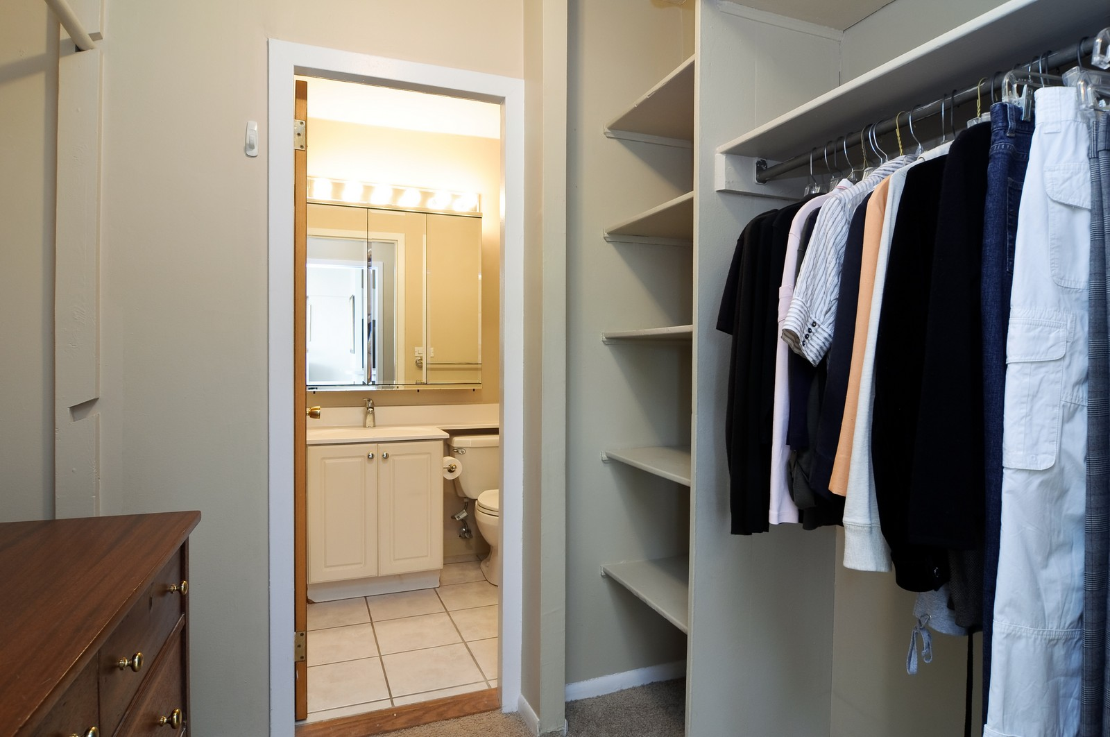 Real Estate Photography - 1460 N Sandburg, Unit 1207, Chicago, IL, 60610 - Closet