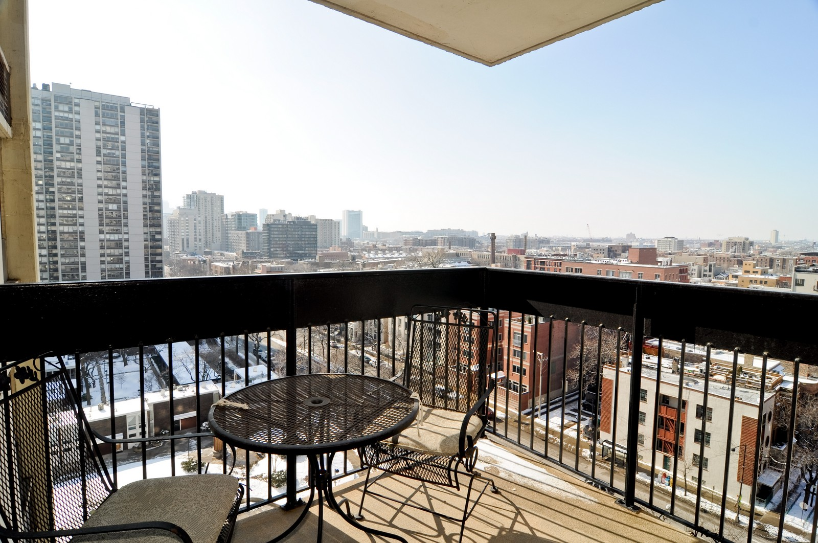 Real Estate Photography - 1460 N Sandburg, Unit 1207, Chicago, IL, 60610 - Balcony