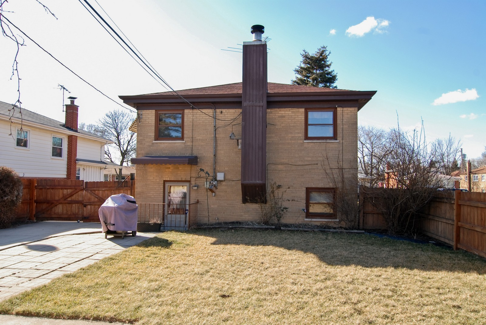Real Estate Photography - 4535 Deyo, Brookfield, IL, 60513 - Rear View