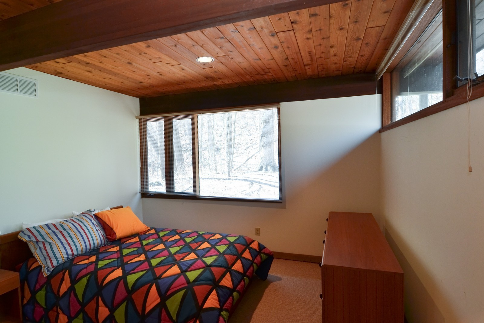 Real Estate Photography - 6 Pine Ln, Dune Acres, IN, 46304 - Just One of Two Lower Level Guest Bedrooms