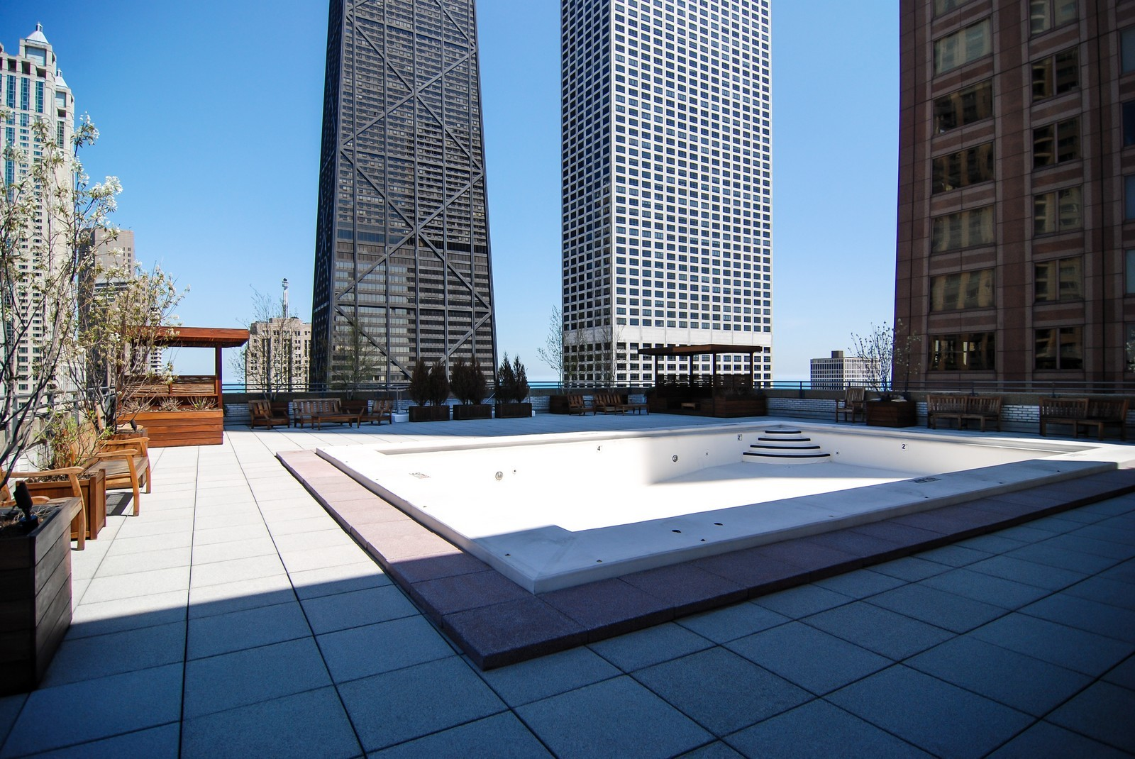 Real Estate Photography - 777 N Michigan Ave, Unit 3107, Chicago, IL, 60611 - Pool