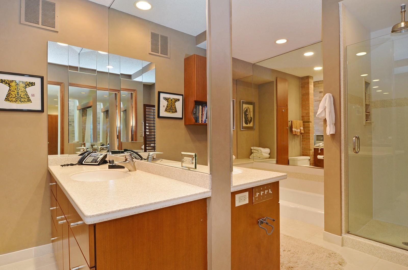 Real Estate Photography - 350 Sunrise Circle, Glencoe, IL, 60022 - Master Bath and a half
