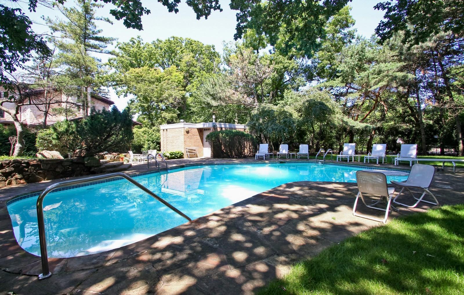 Real Estate Photography - 350 Sunrise Circle, Glencoe, IL, 60022 - Pool + Pool House