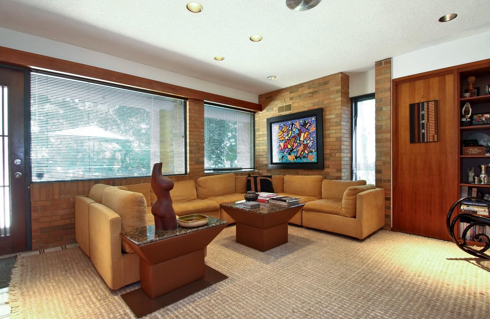 Real Estate Photography - 350 Sunrise Circle, Glencoe, IL, 60022 - Family Room