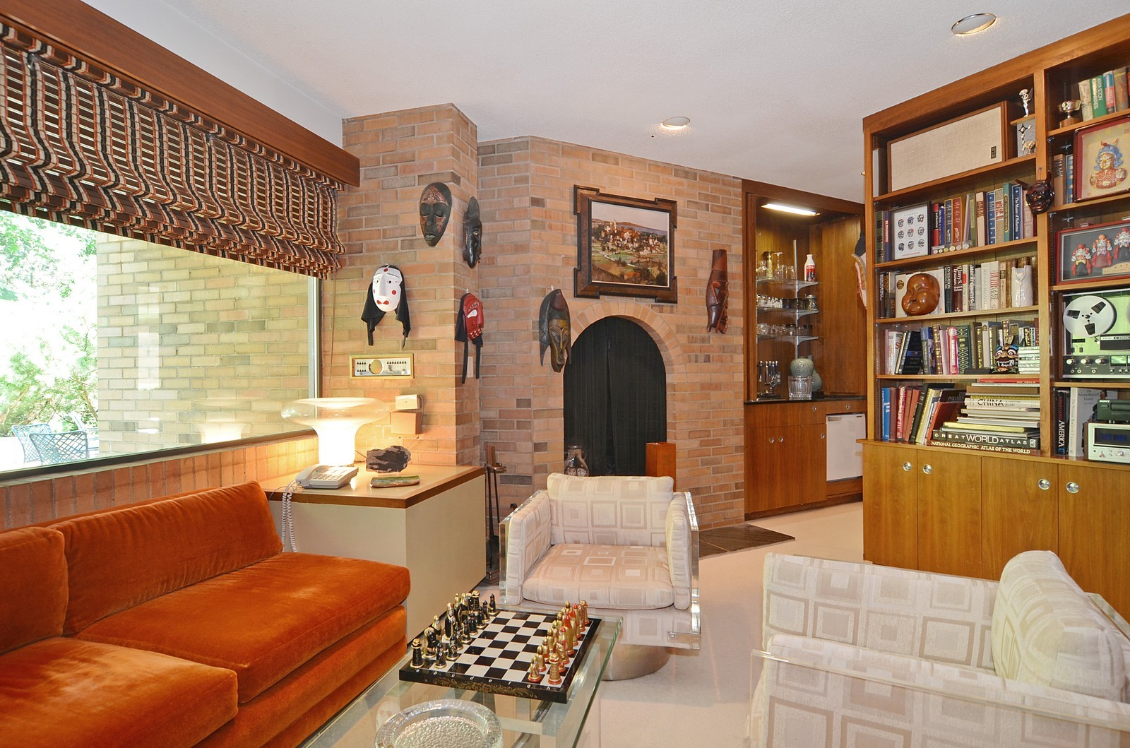 Real Estate Photography - 350 Sunrise Circle, Glencoe, IL, 60022 - Study with Fireplace